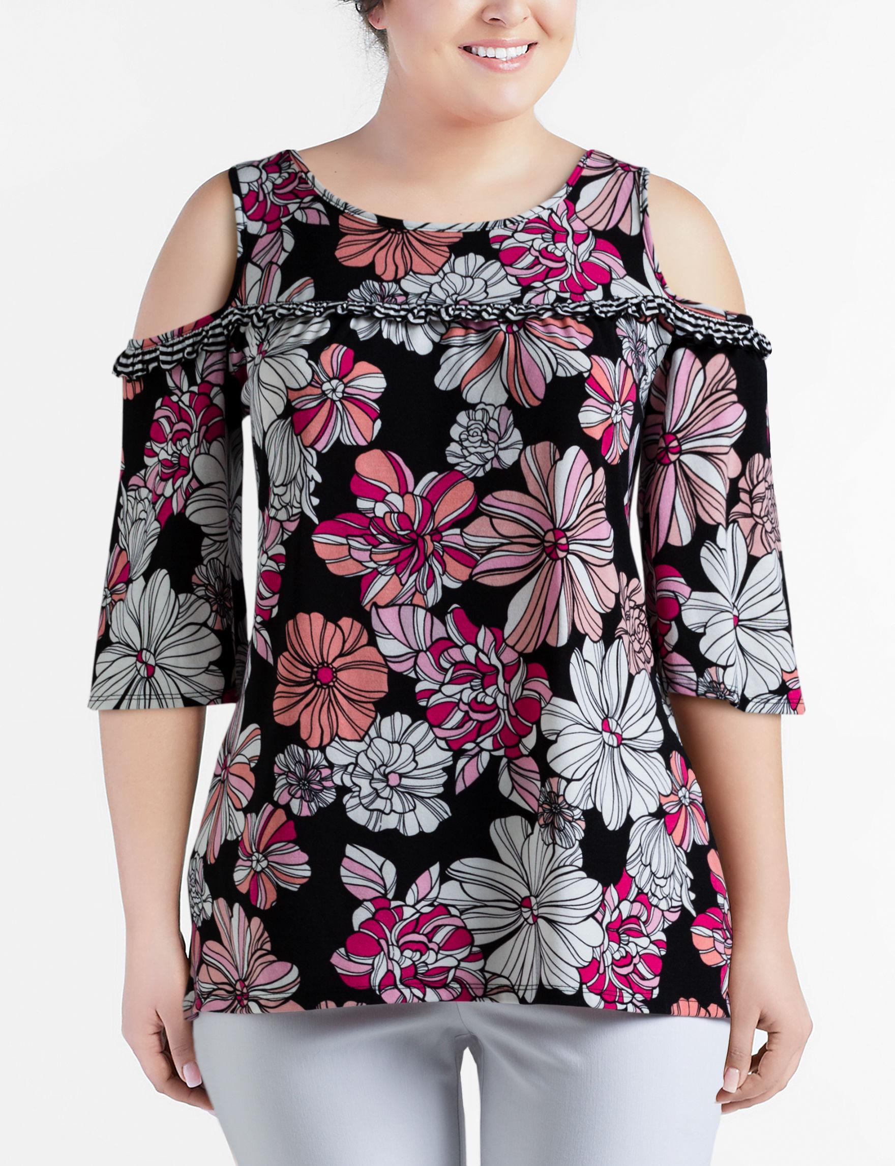 Hannah Pink Floral Shirts & Blouses