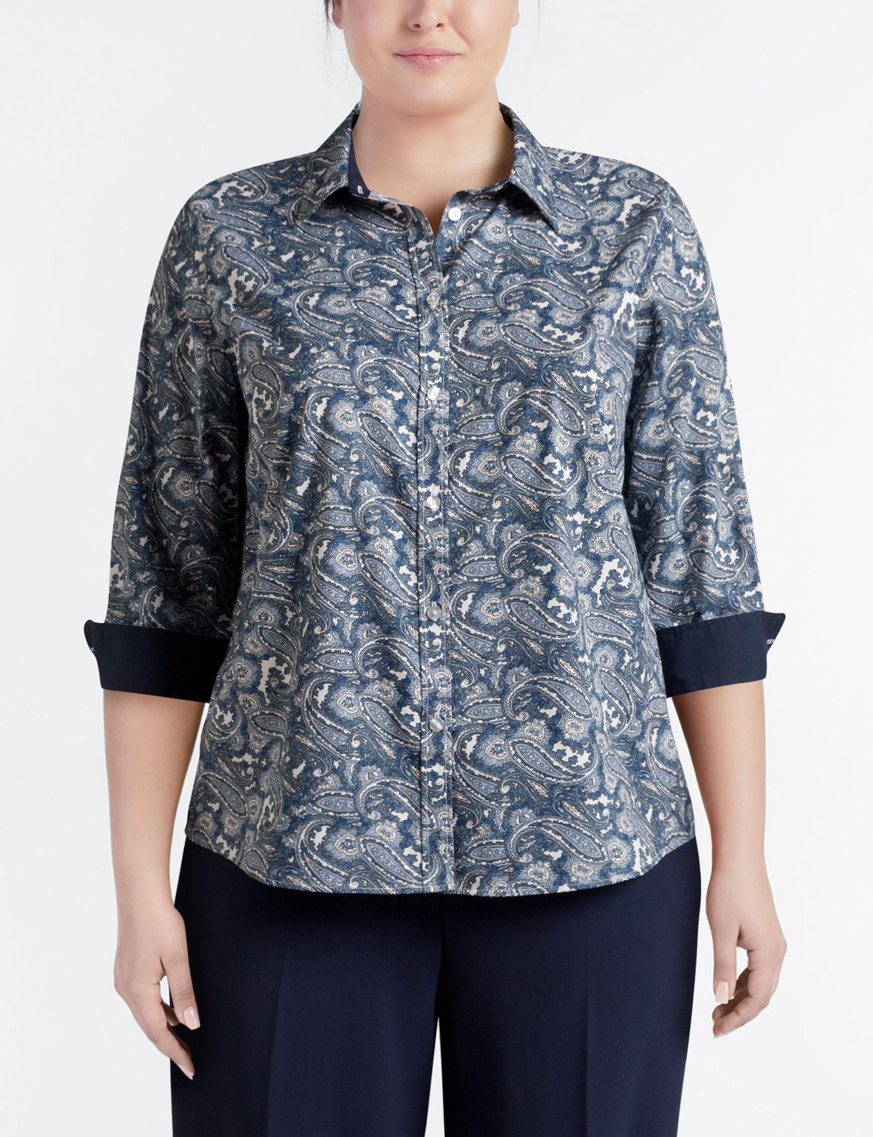 Rebecca Malone Navy Shirts & Blouses