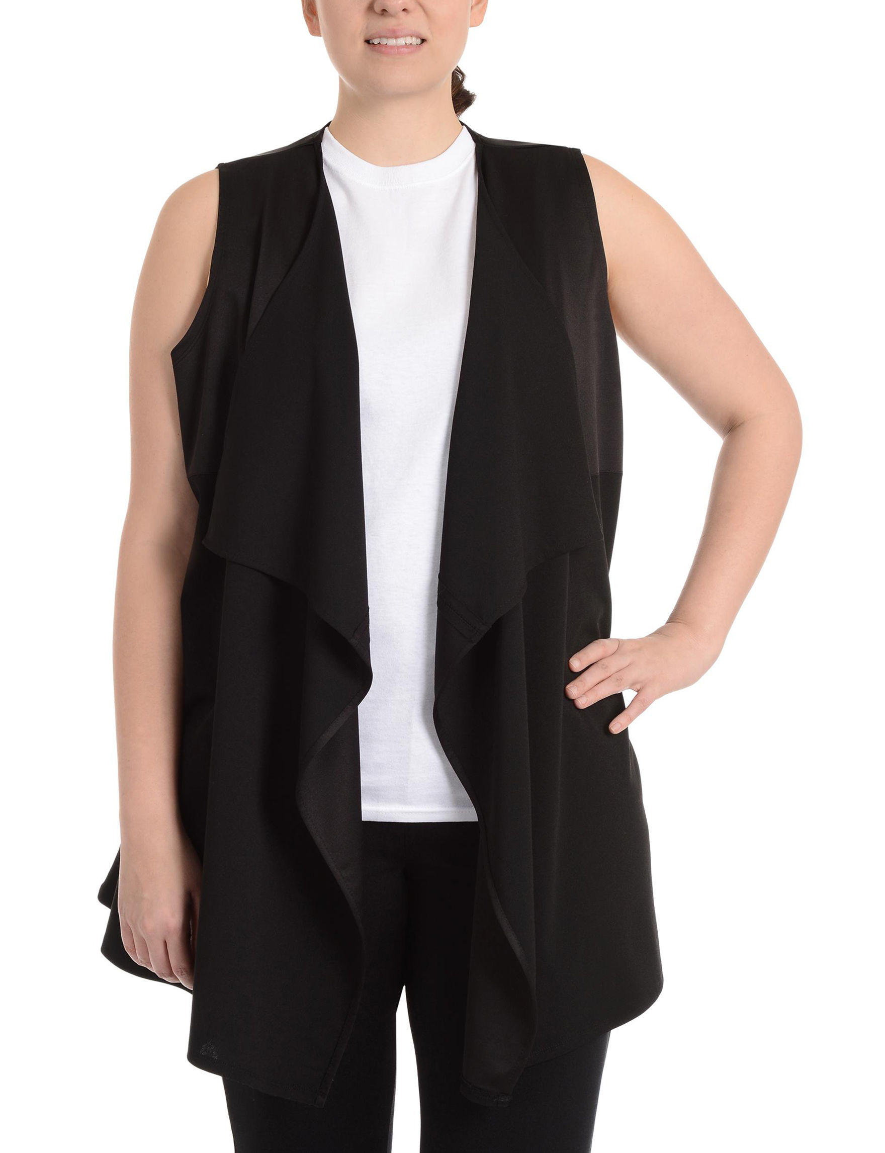 NY Collection Black Vests