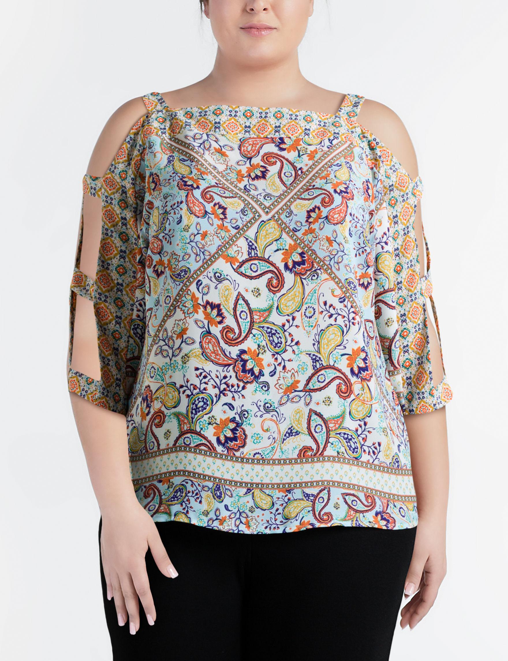 Figuero & Flower Beige Shirts & Blouses