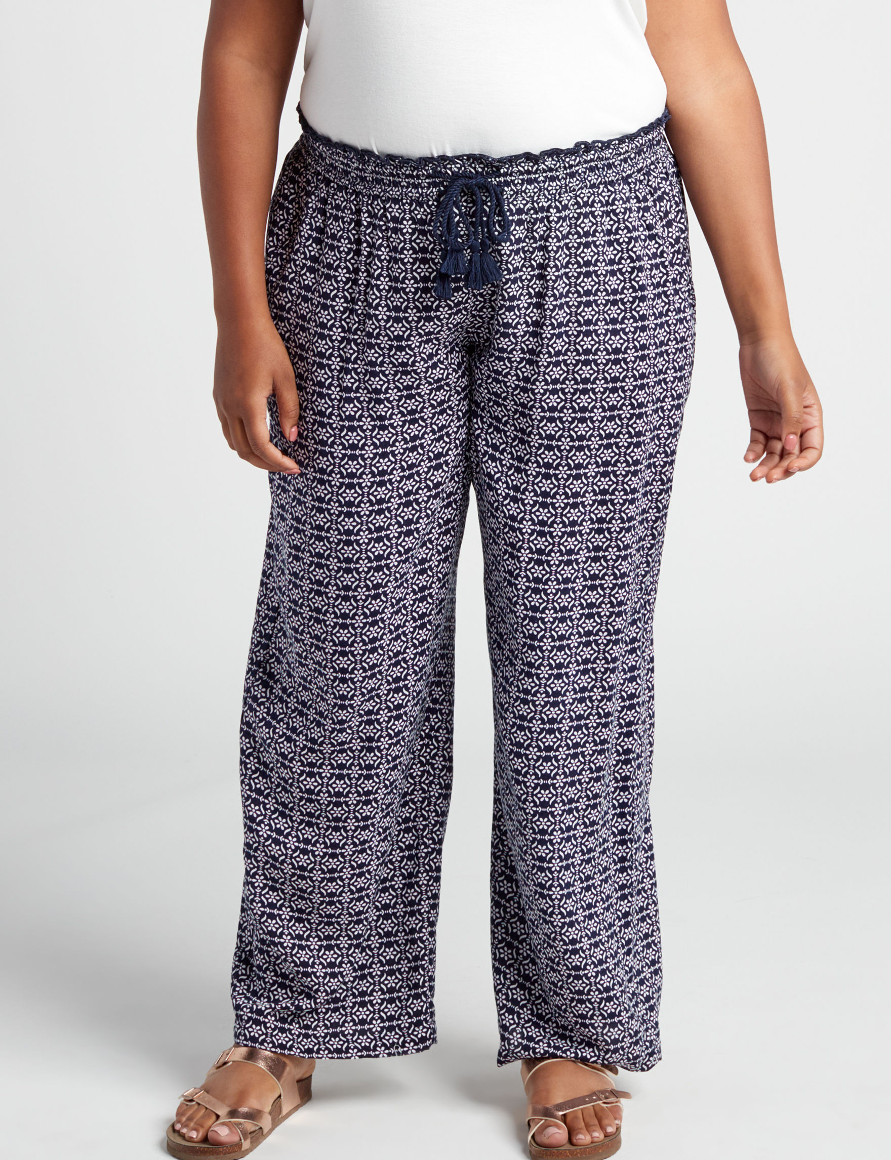 New Direction Navy Soft Pants