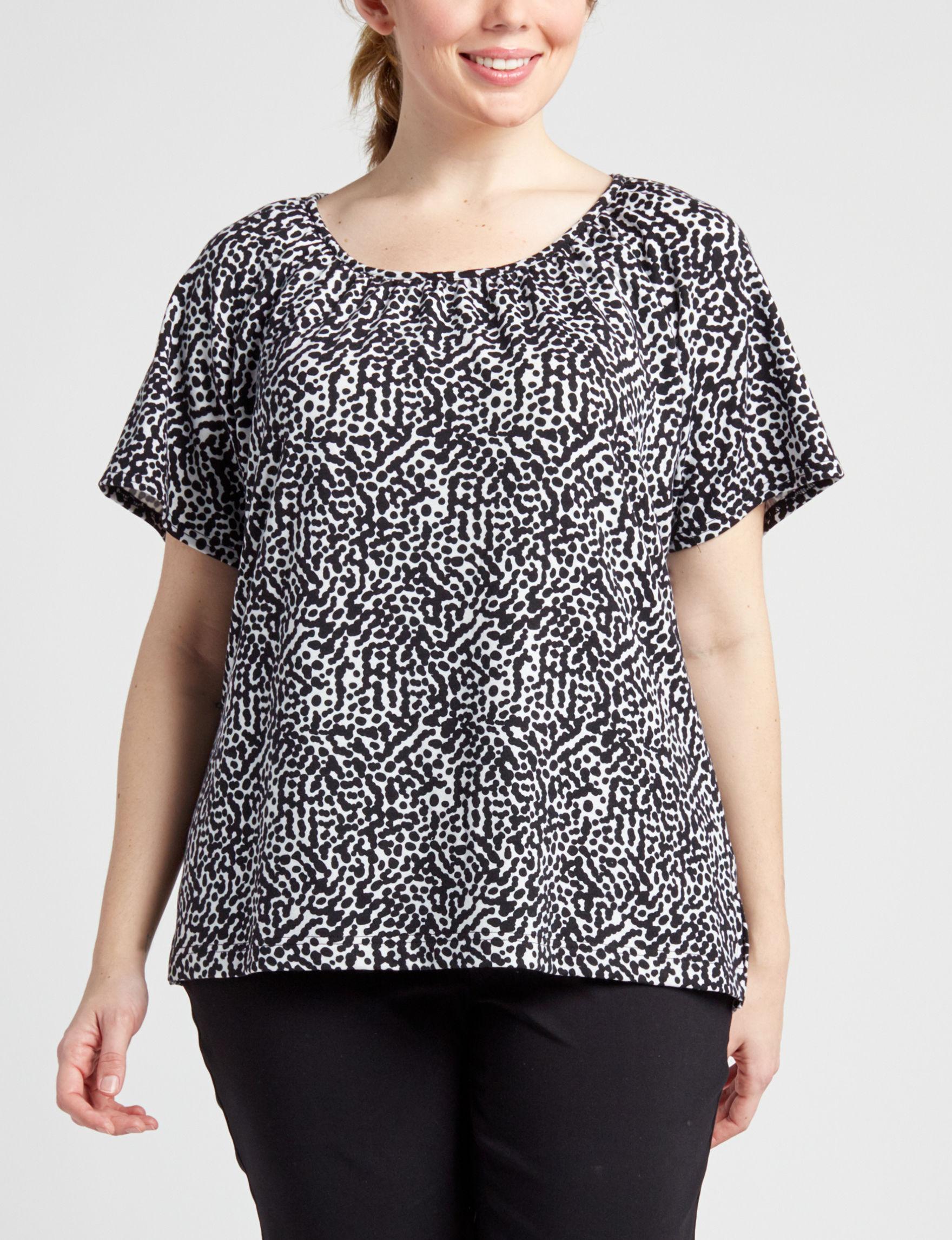 Cathy Daniels Black /  White Shirts & Blouses