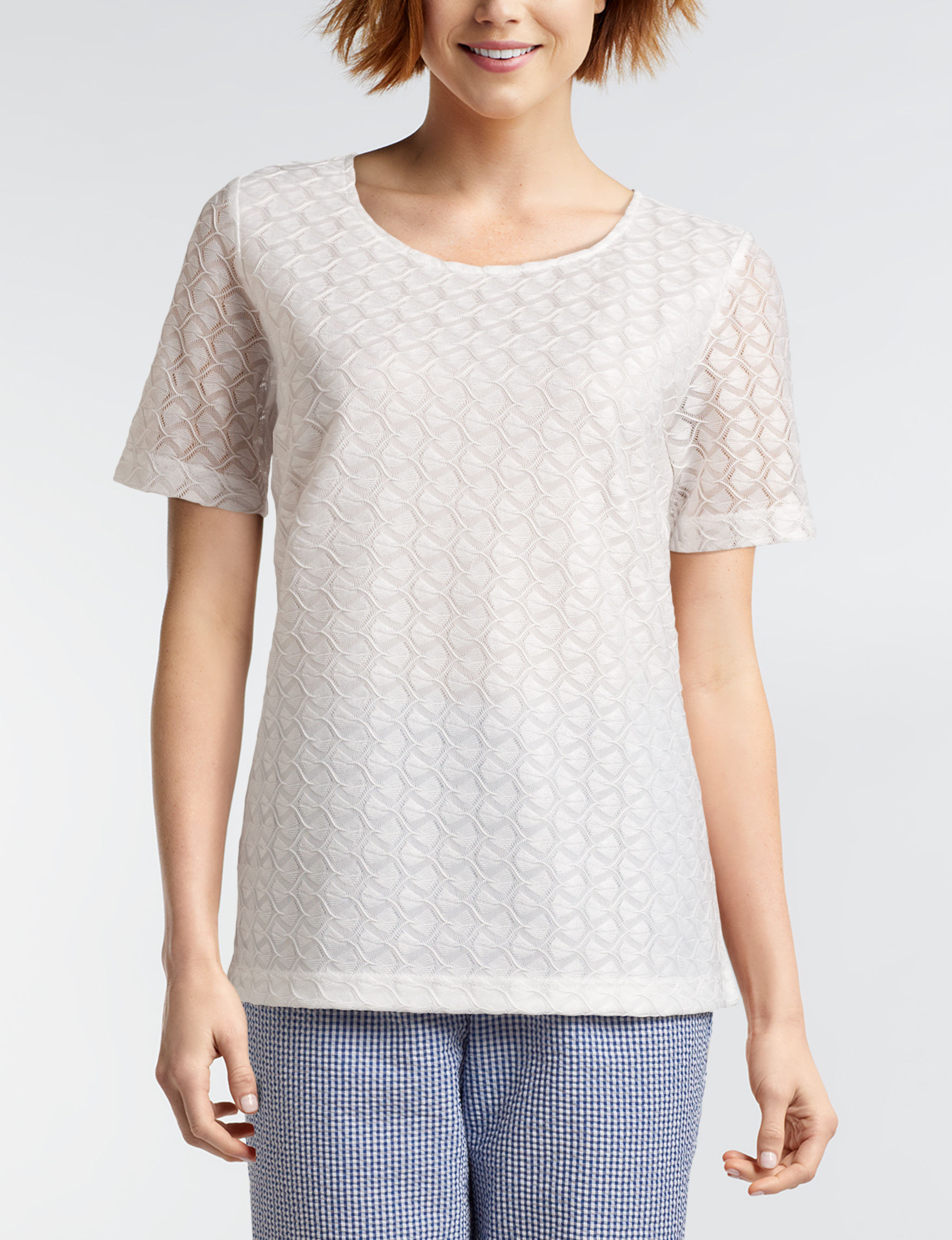 a47166efdec Cathy Daniels Plus-size Lace Knit Top