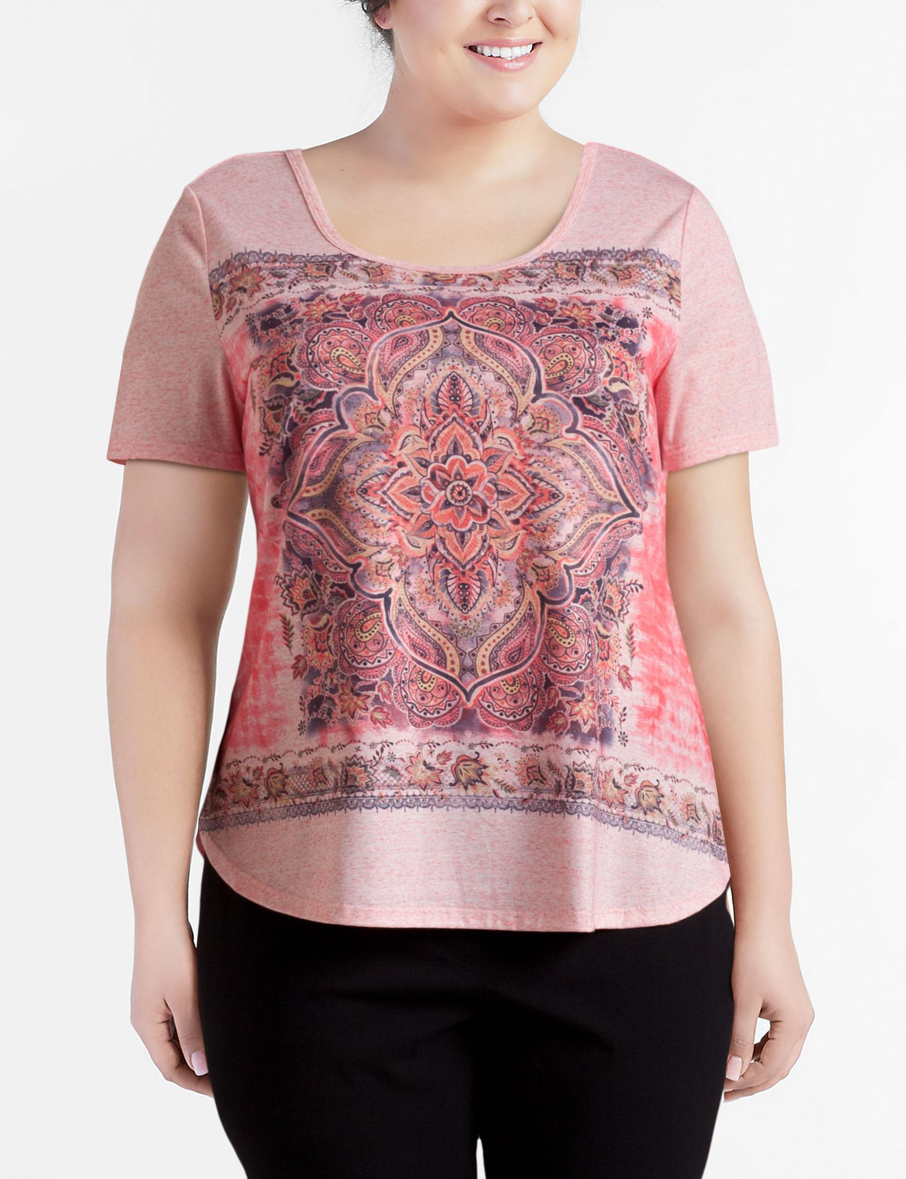 Hannah Pink Multi Shirts & Blouses