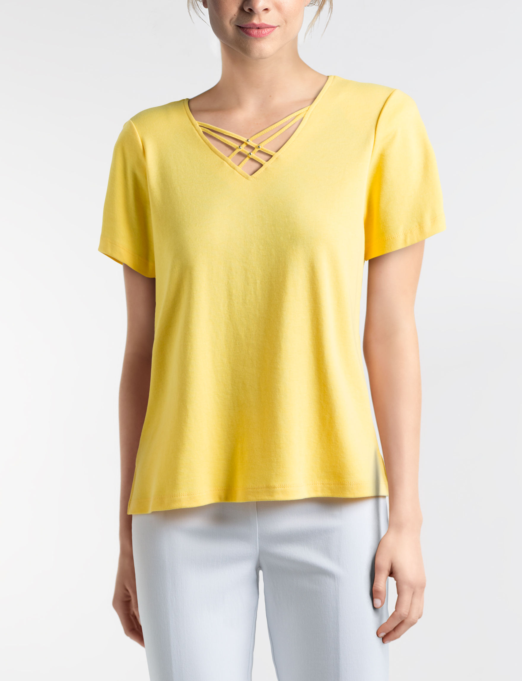 Alfred Dunner Gold Shirts & Blouses
