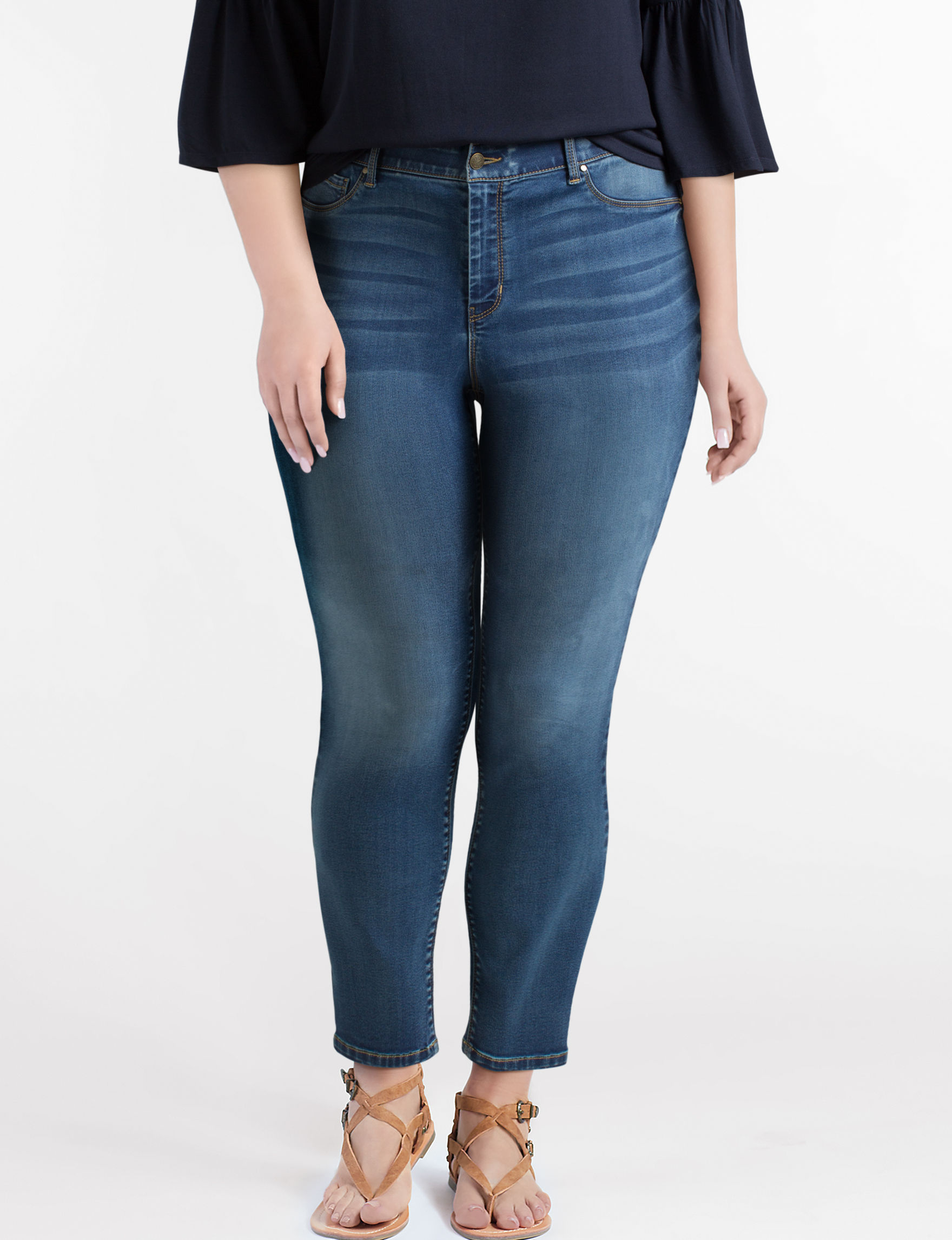 Signature Studio Blue Jeggings Skinny