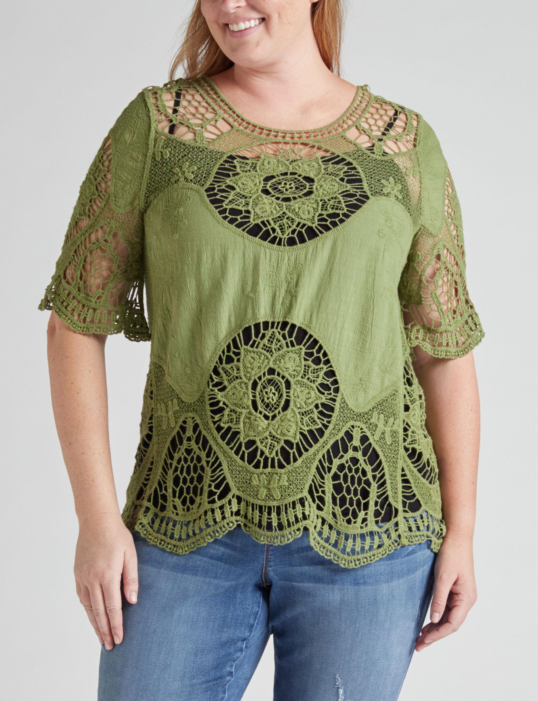 Latitude 10 Olive Shirts & Blouses
