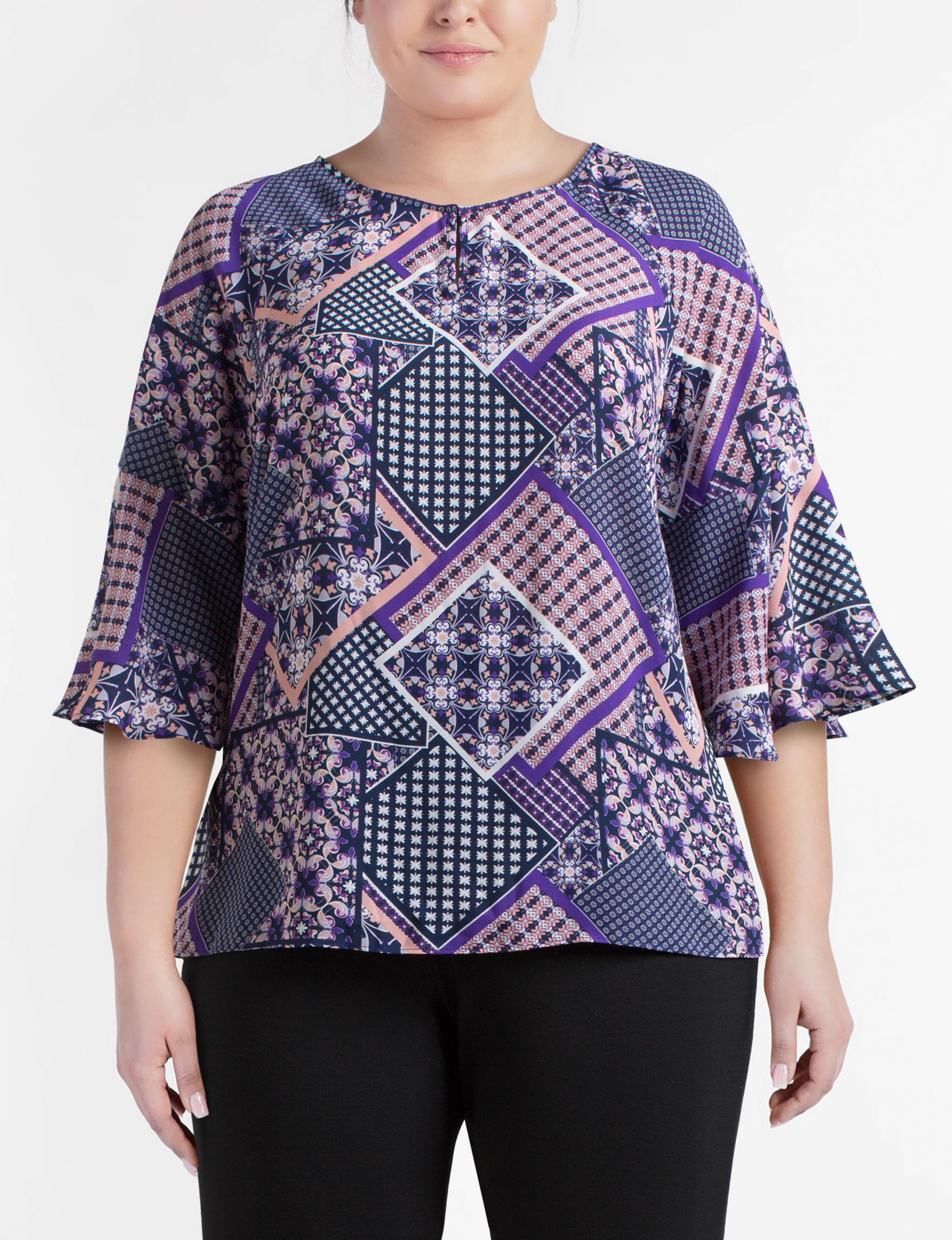 Zac & Rachel Blue / Purple Shirts & Blouses