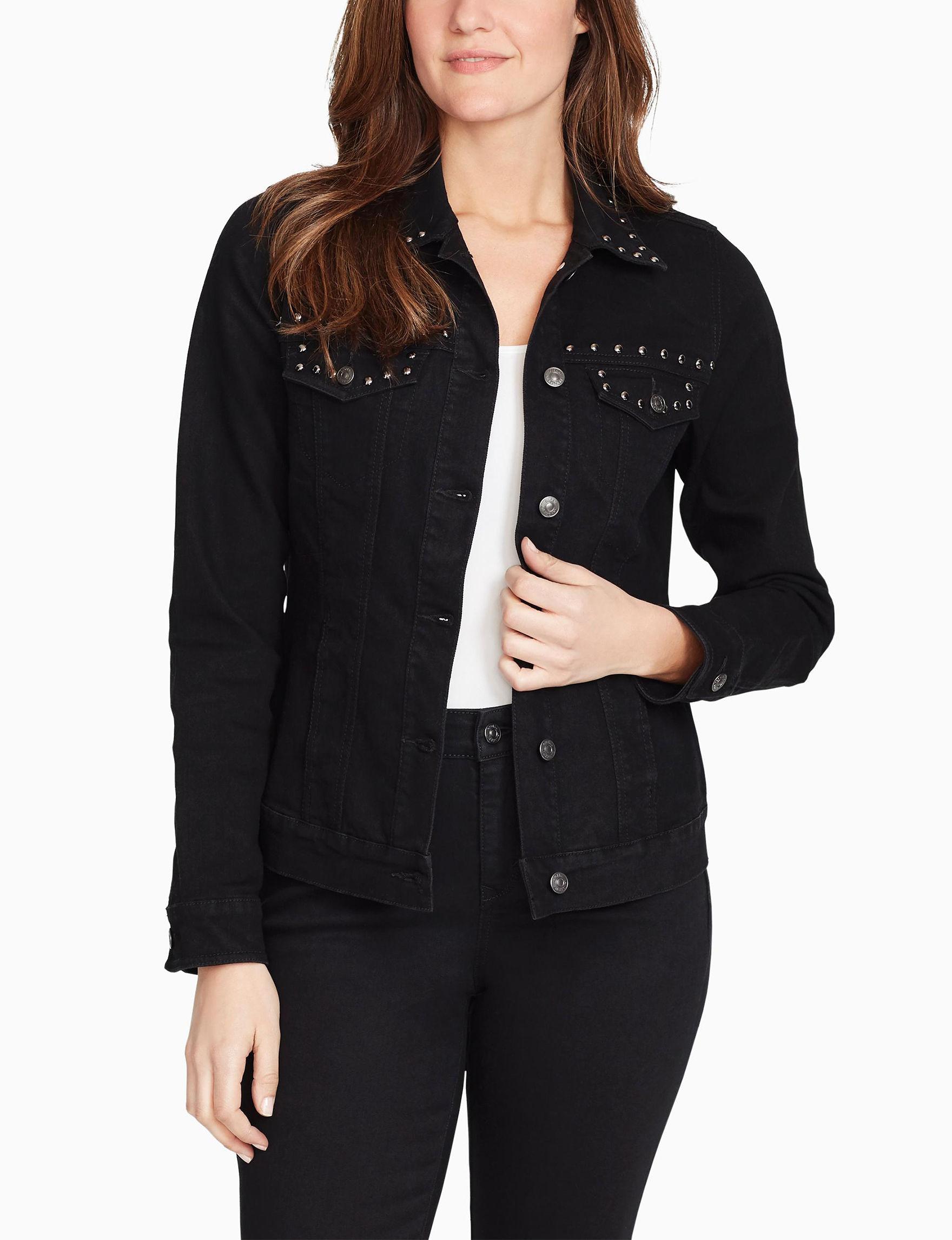 Gloria Vanderbilt Black Denim Jackets