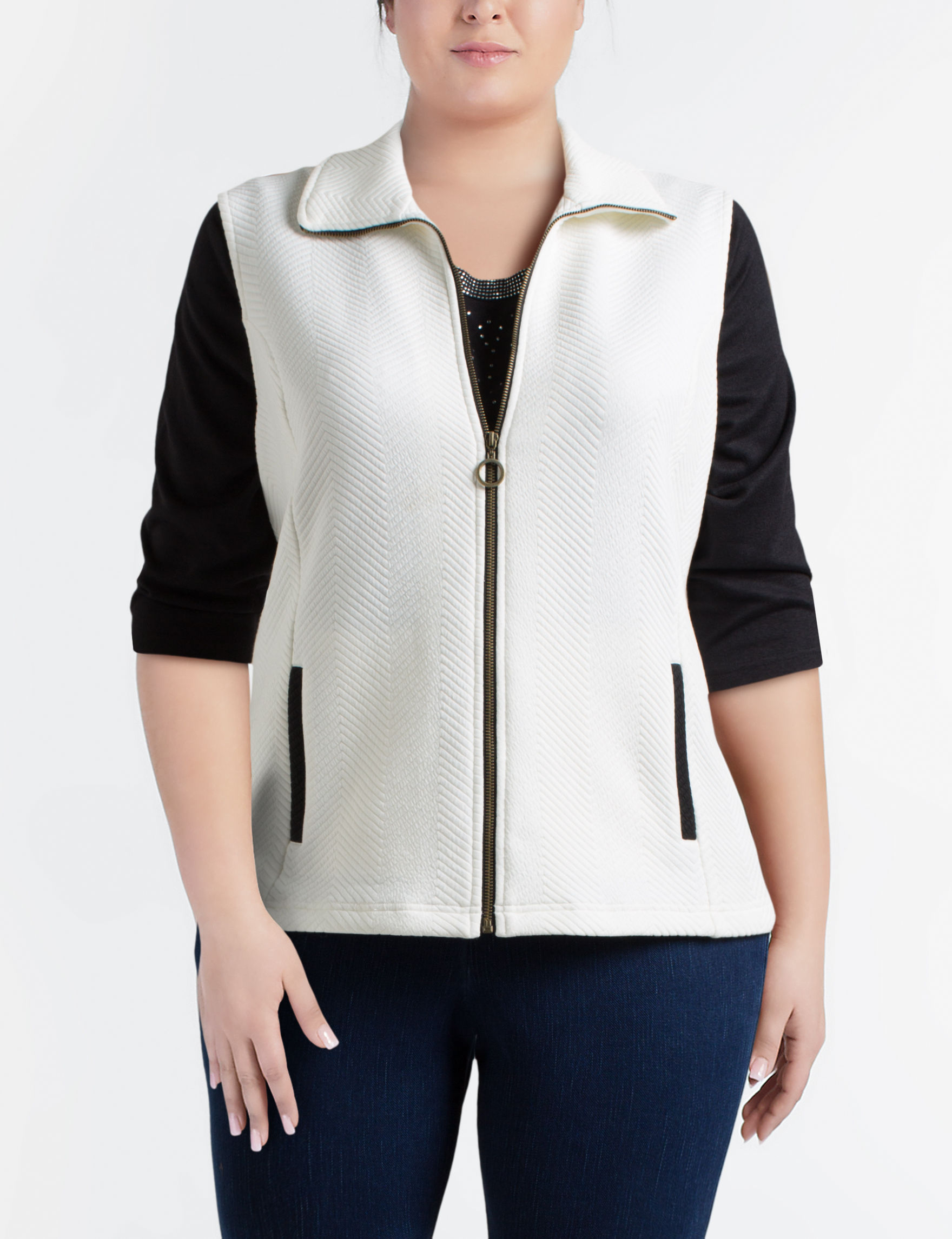Cathy Daniels White Sweater Vests