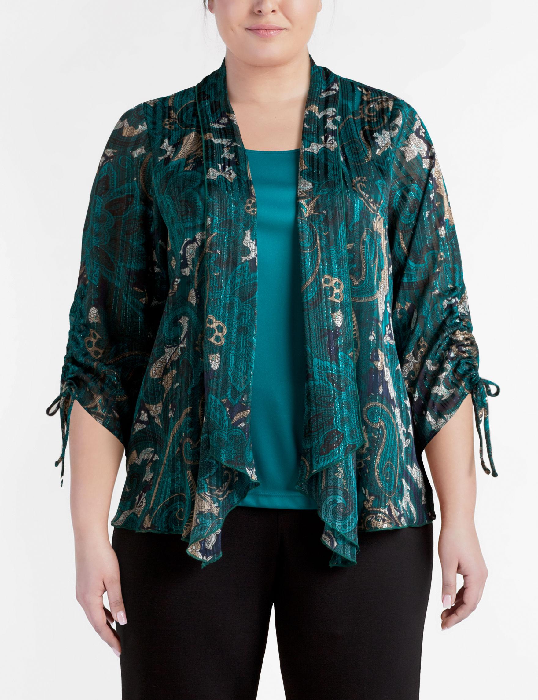 Turquoise Blouses Plus Size