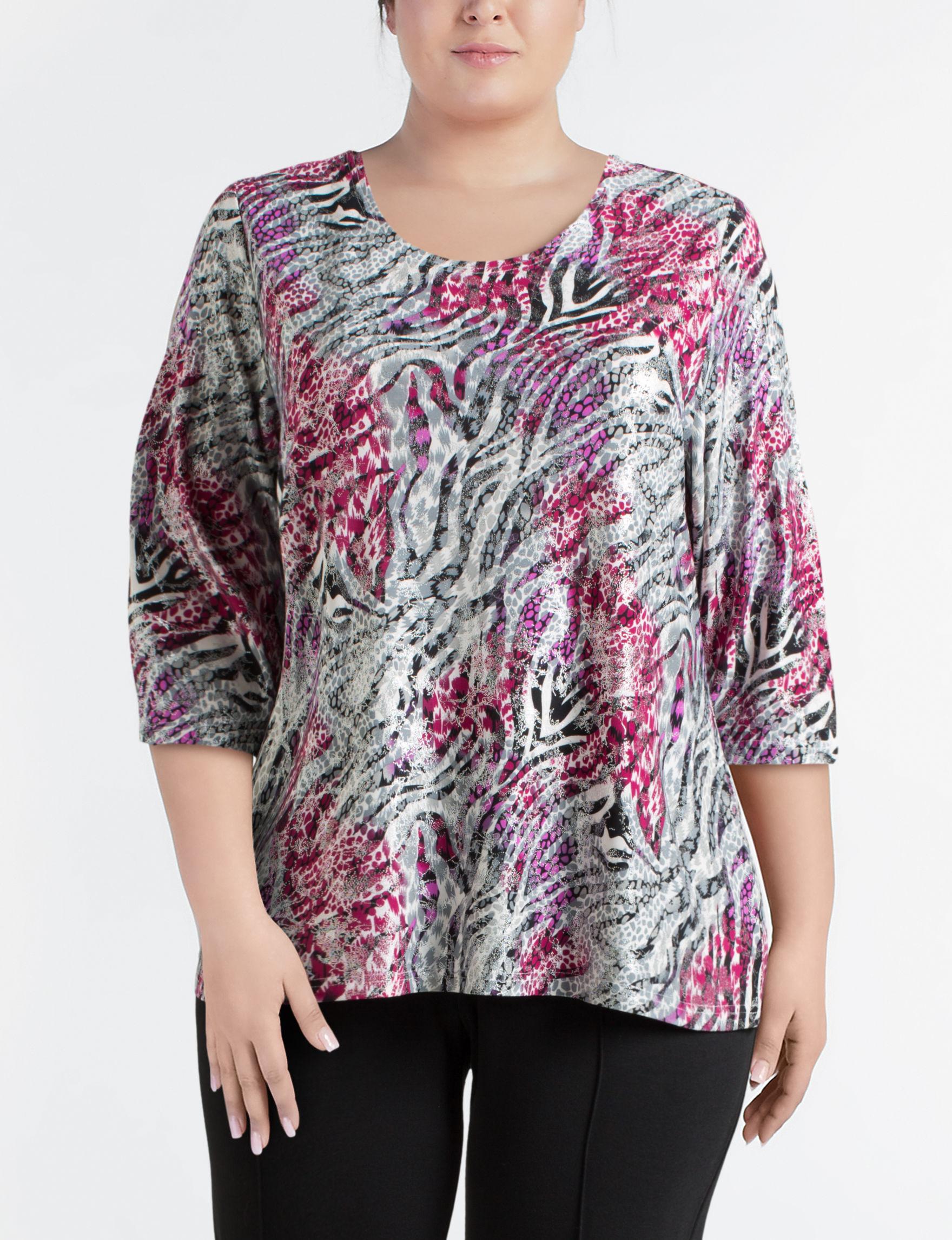 Rebecca Malone Red Multi Shirts & Blouses