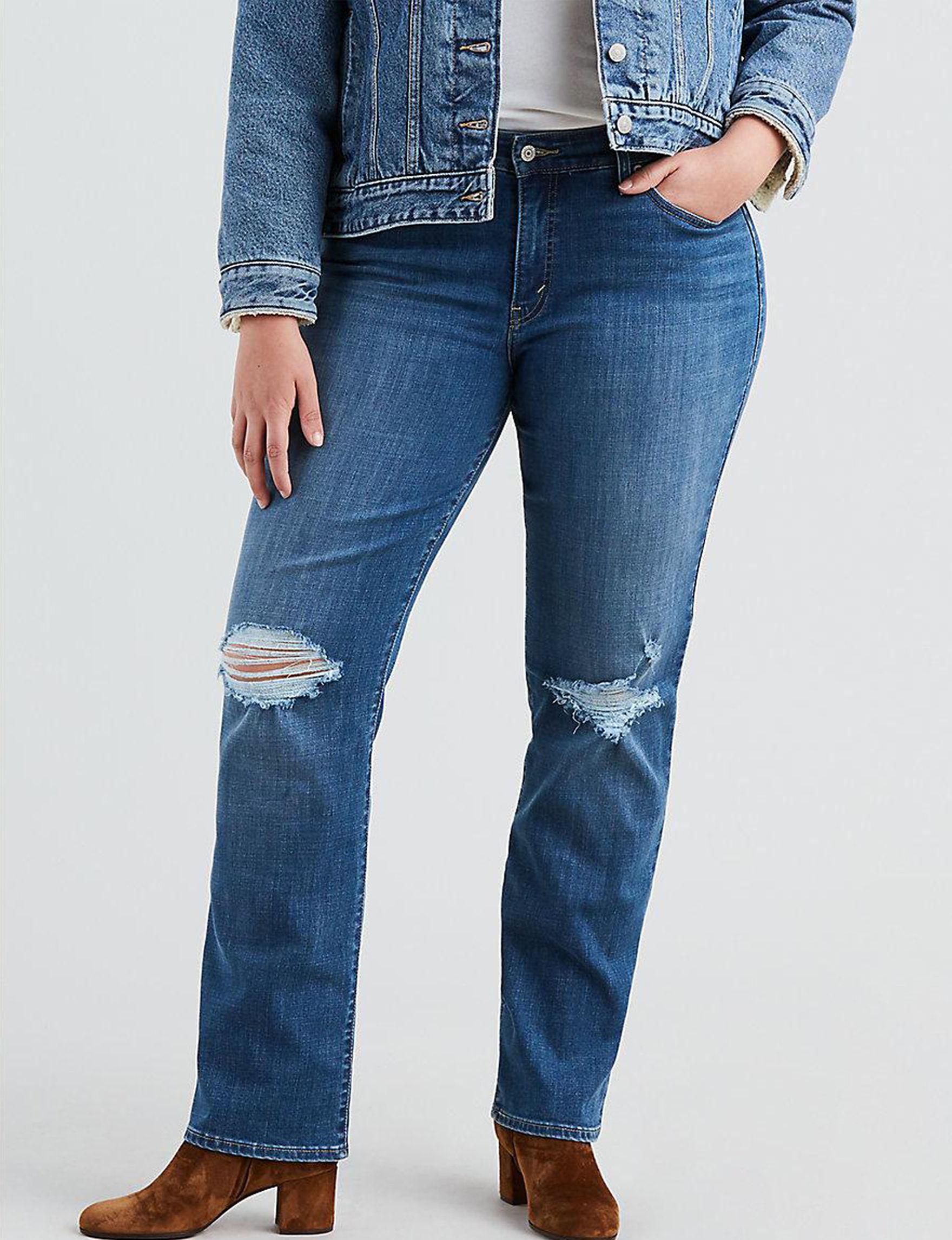 9948e50c3d4 Levi s® Plus-size 414™ Classic Distressed Straight Leg Jeans