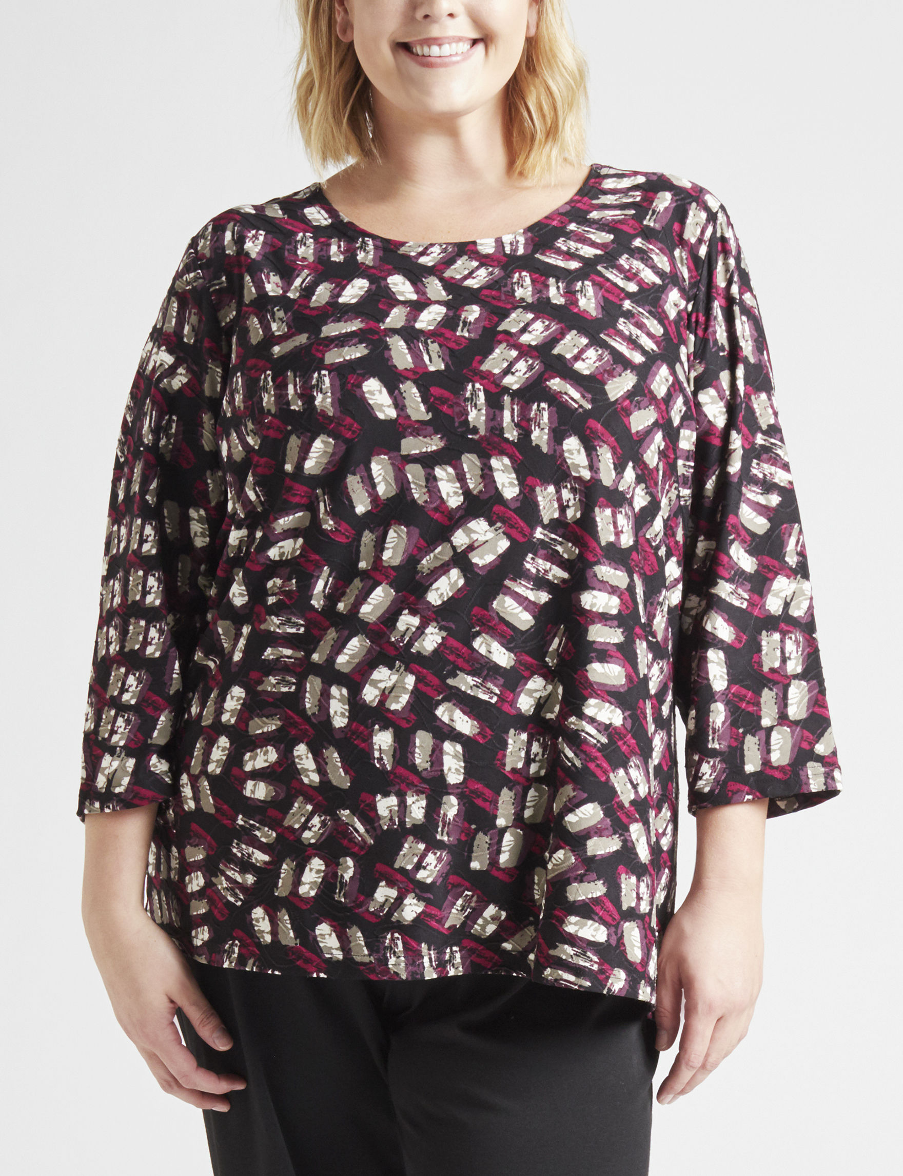 Rebecca Malone Black Multi Shirts & Blouses