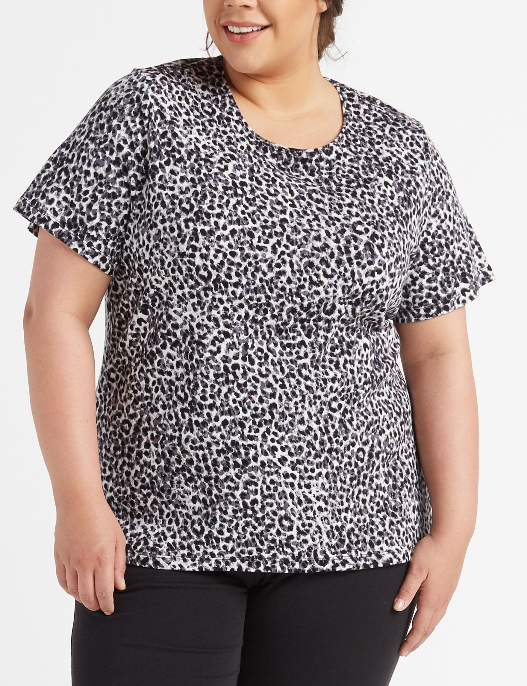 Rebecca Malone White / Black Shirts & Blouses
