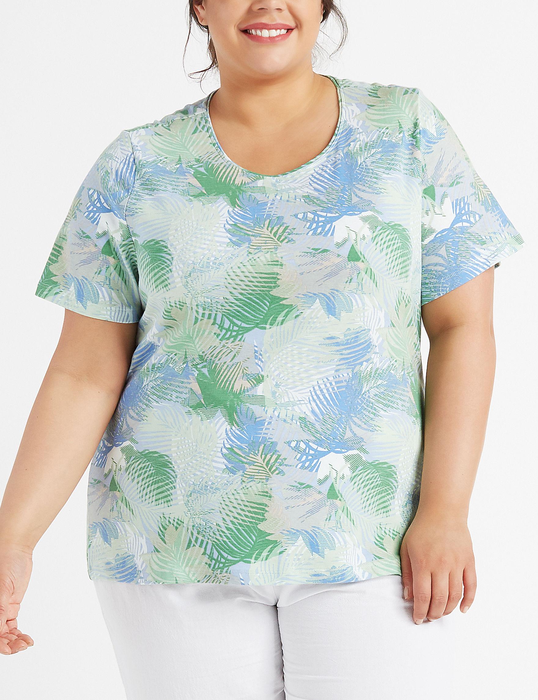 Rebecca Malone Blue / Green Shirts & Blouses