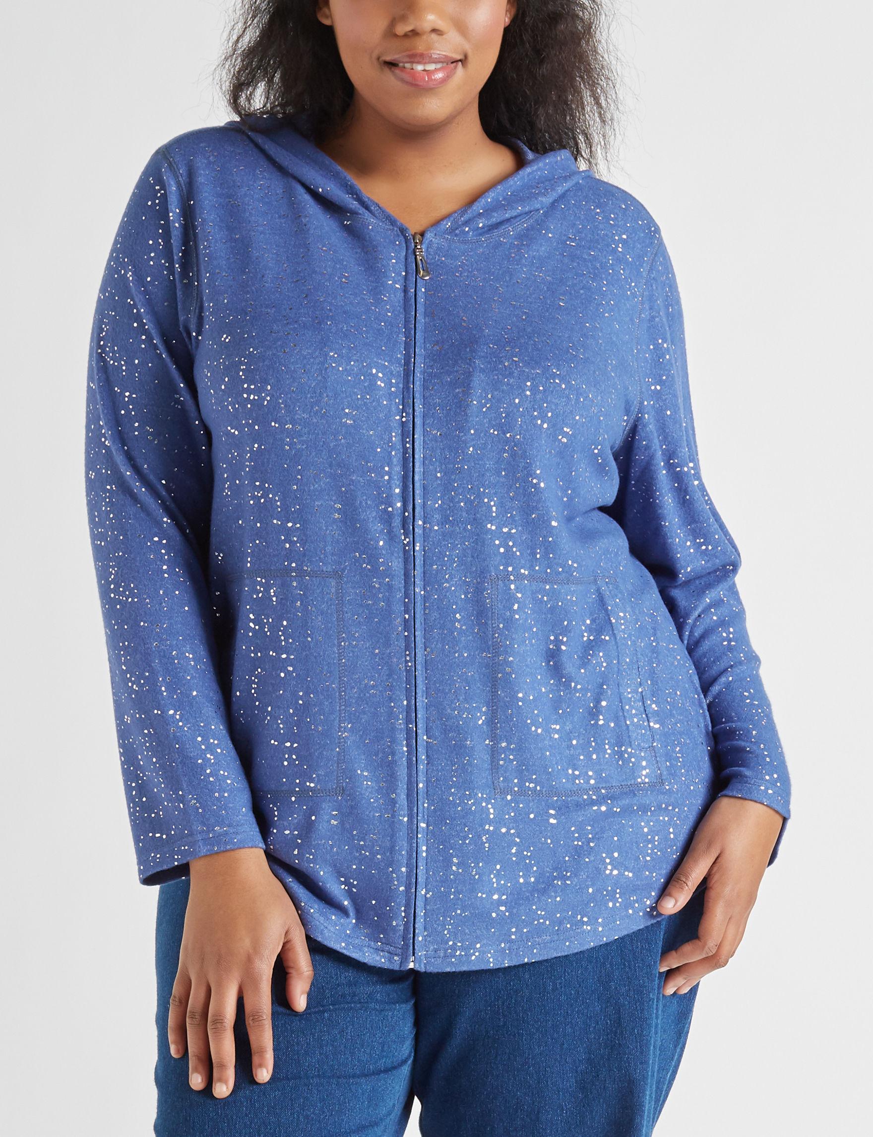 Cathy Daniels Blue / Silver Shirts & Blouses