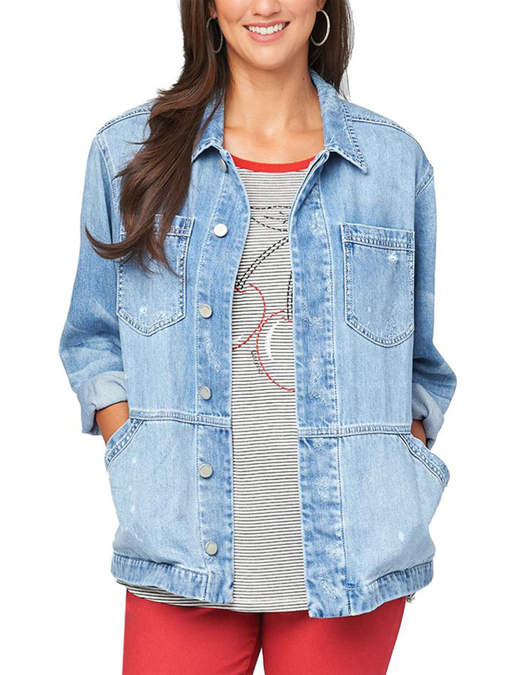 Democracy Light Blue Denim Jackets