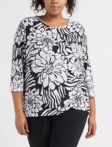 f5b266ae79f Rebecca Malone Black   White Shirts   Blouses
