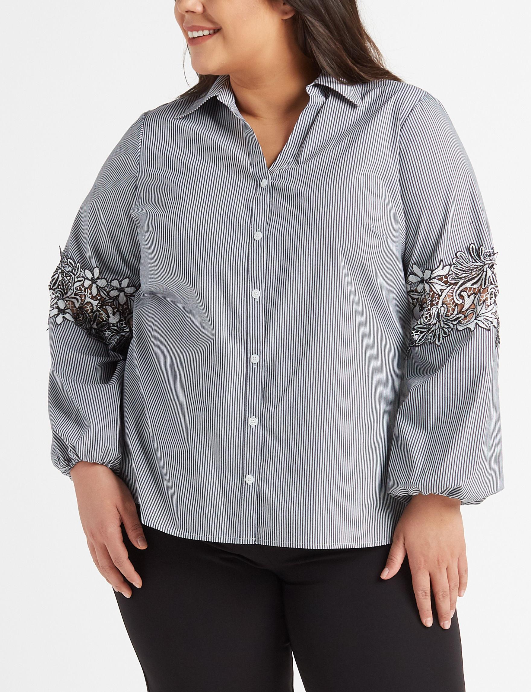 Zac & Rachel White / Black Shirts & Blouses