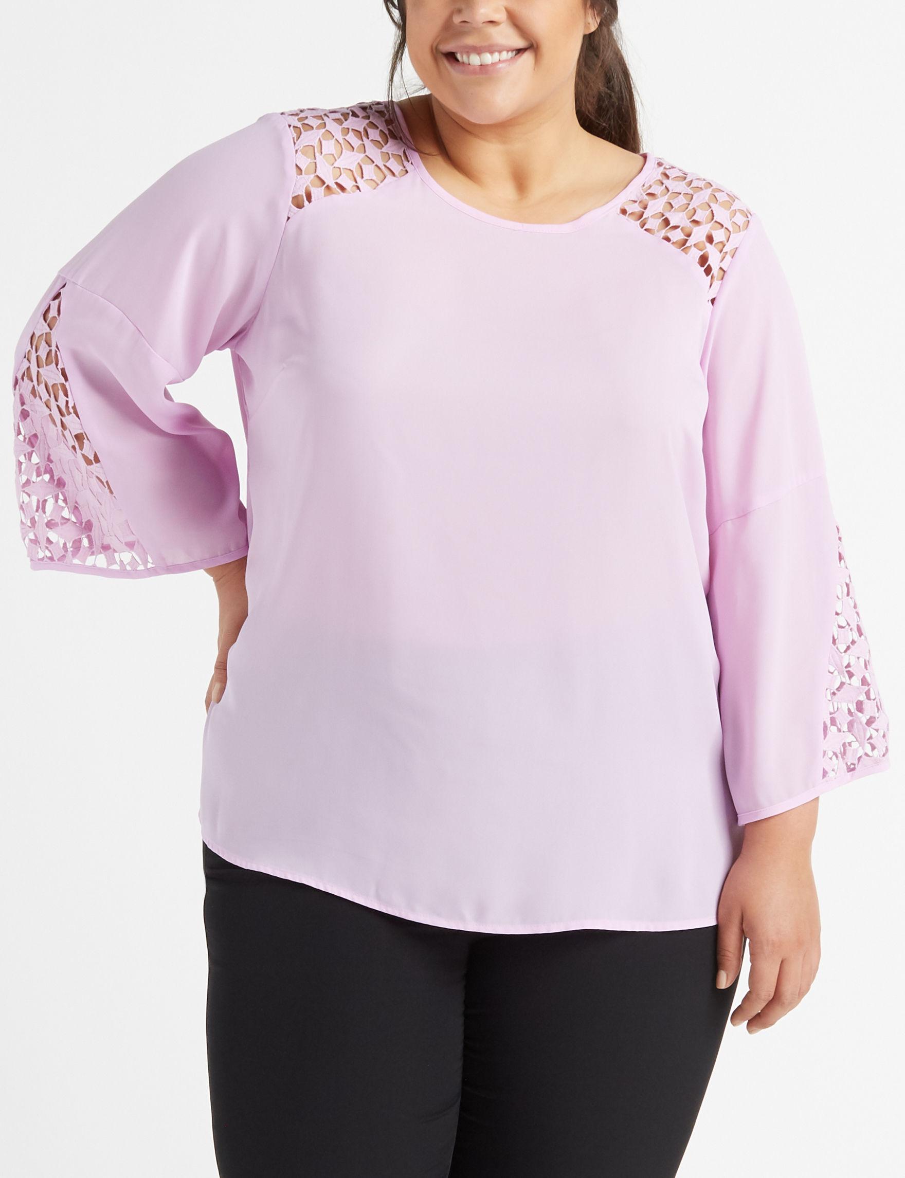 Zac & Rachel Purple Shirts & Blouses