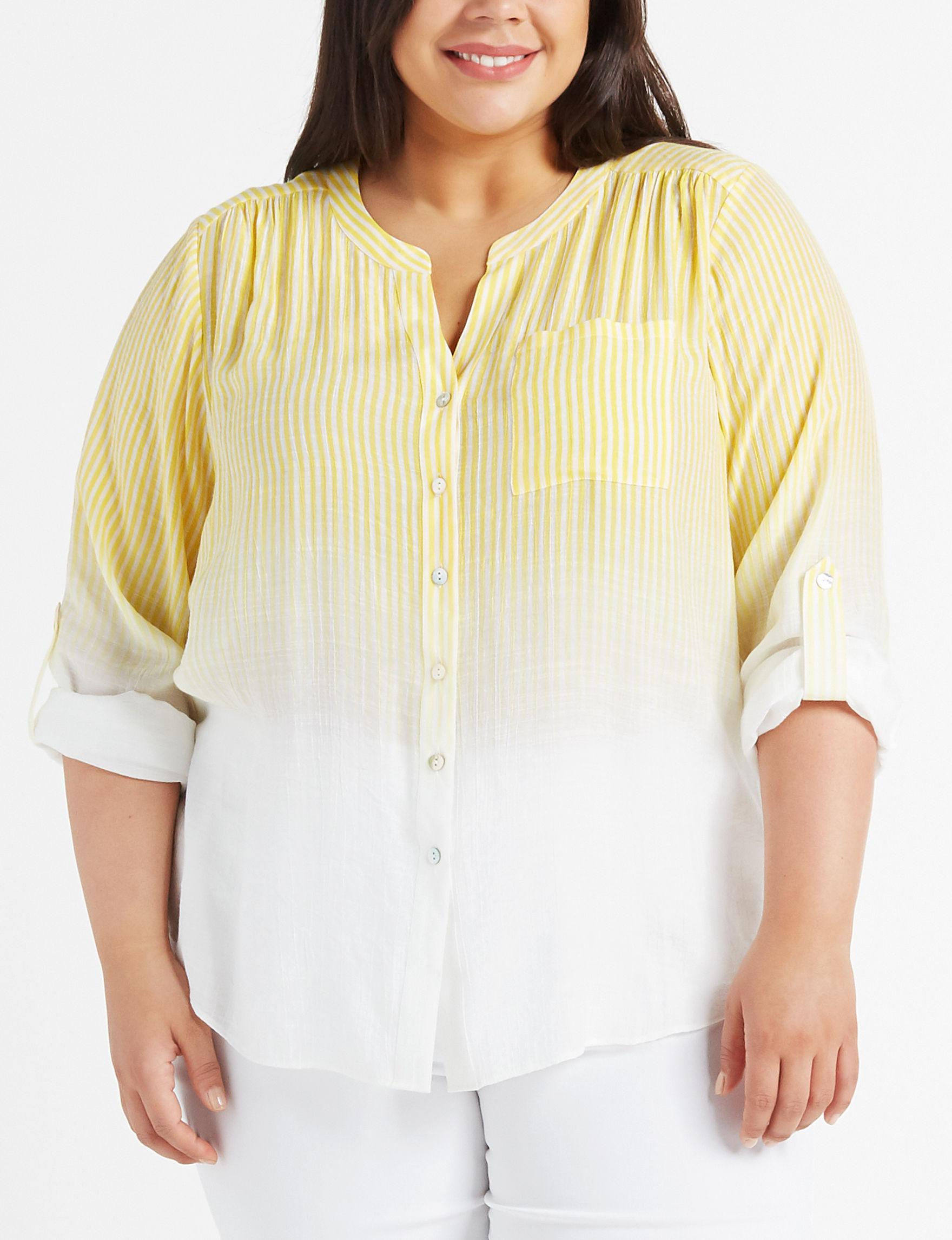 Zac & Rachel Yellow Shirts & Blouses