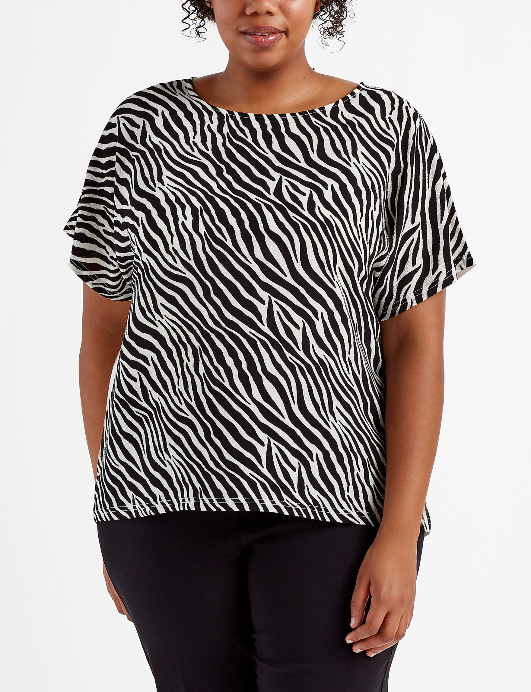 New Direction Zebra Shirts & Blouses