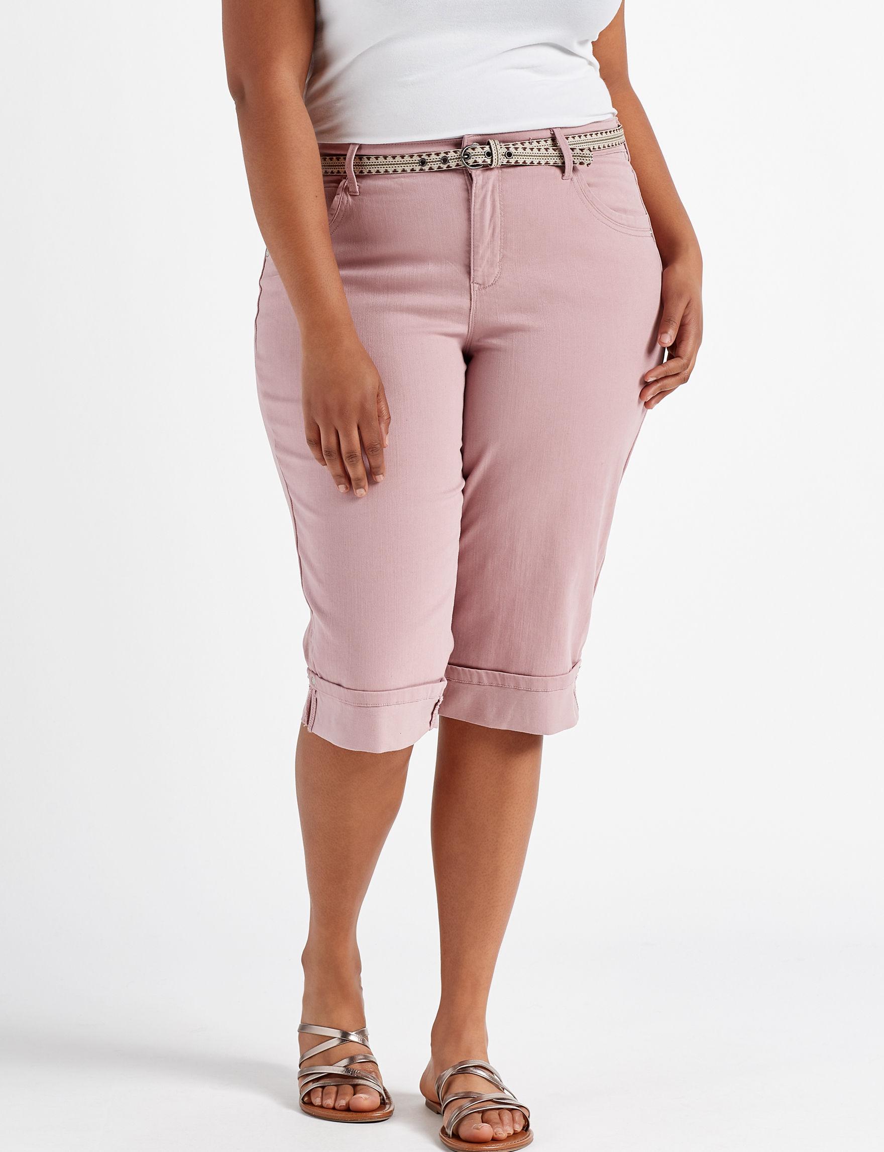 Gloria Vanderbilt Pink Capris & Crops