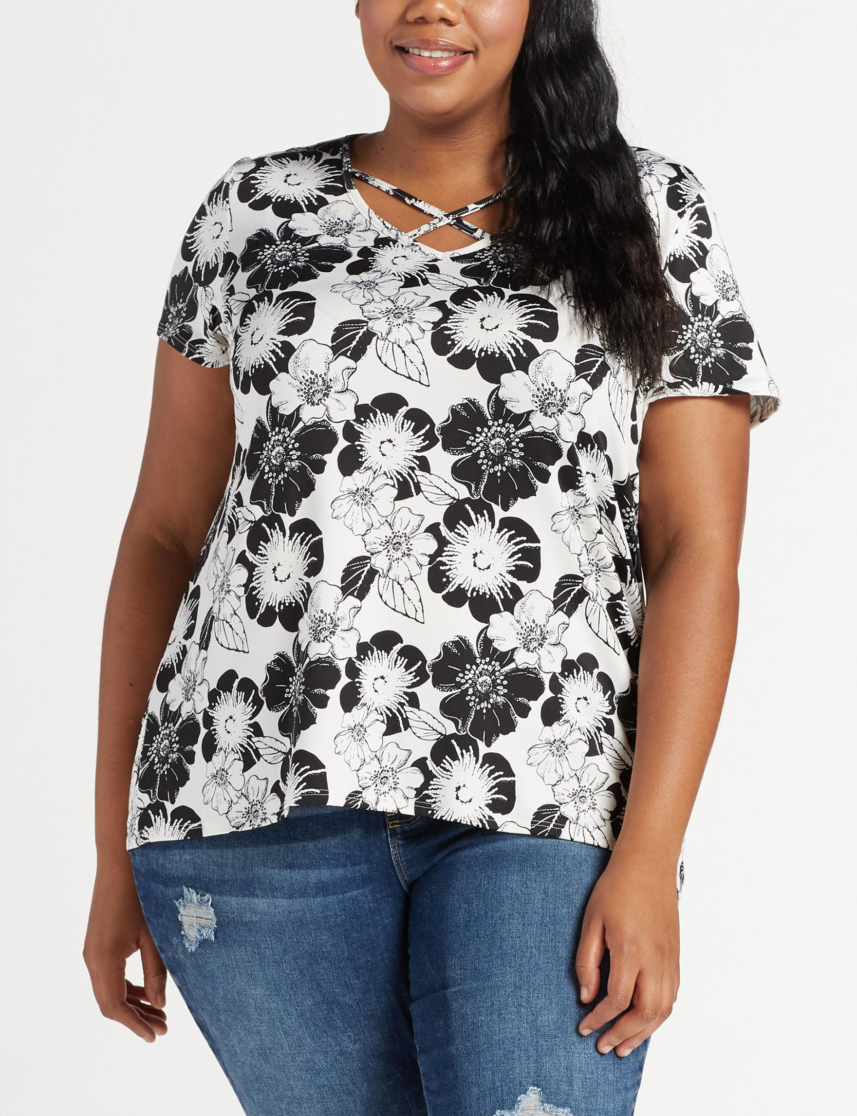 Cathy Daniels Ivory Shirts & Blouses