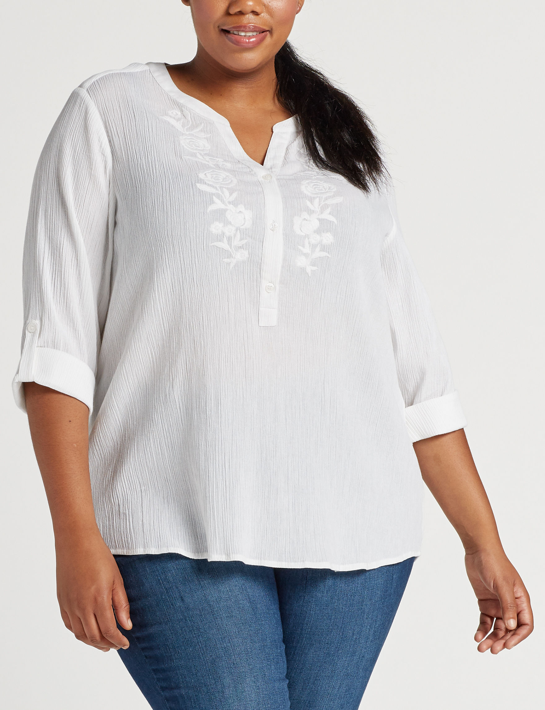 Cathy Daniels White Shirts & Blouses