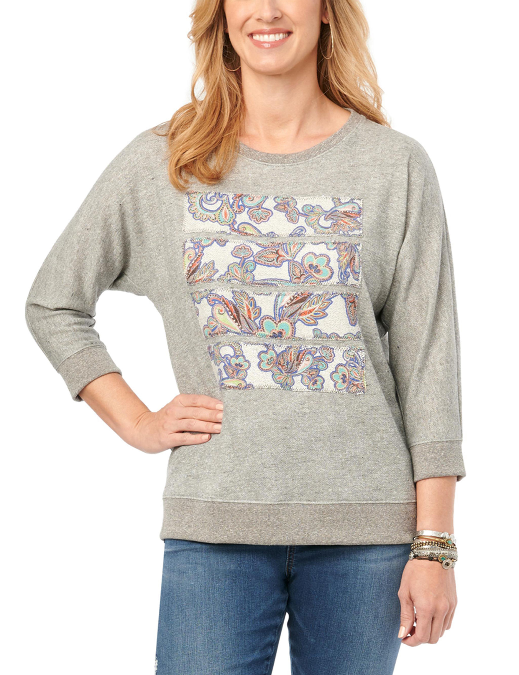 Democracy Grey Pull-overs Shirts & Blouses