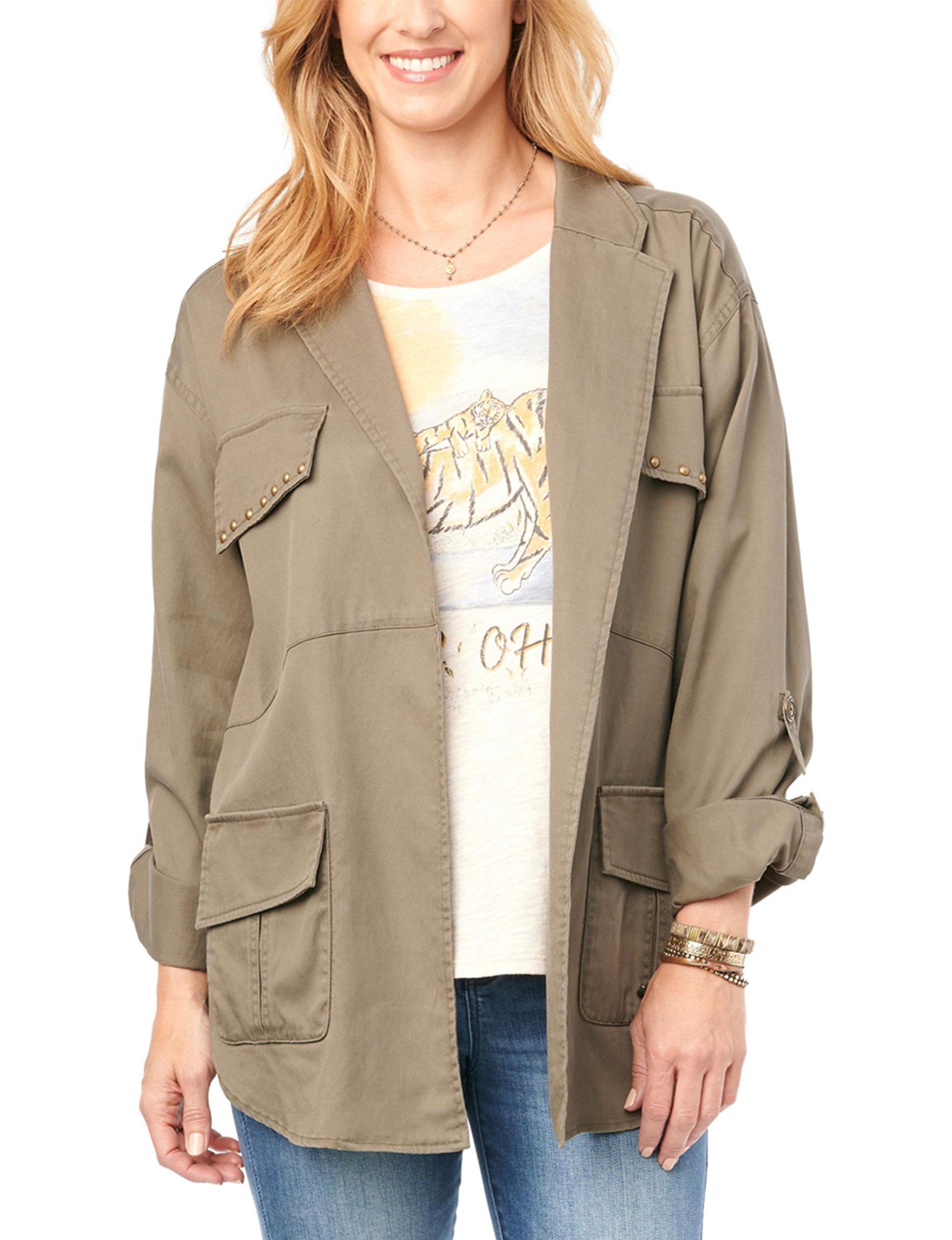 Democracy Olive Lightweight Jackets & Blazers