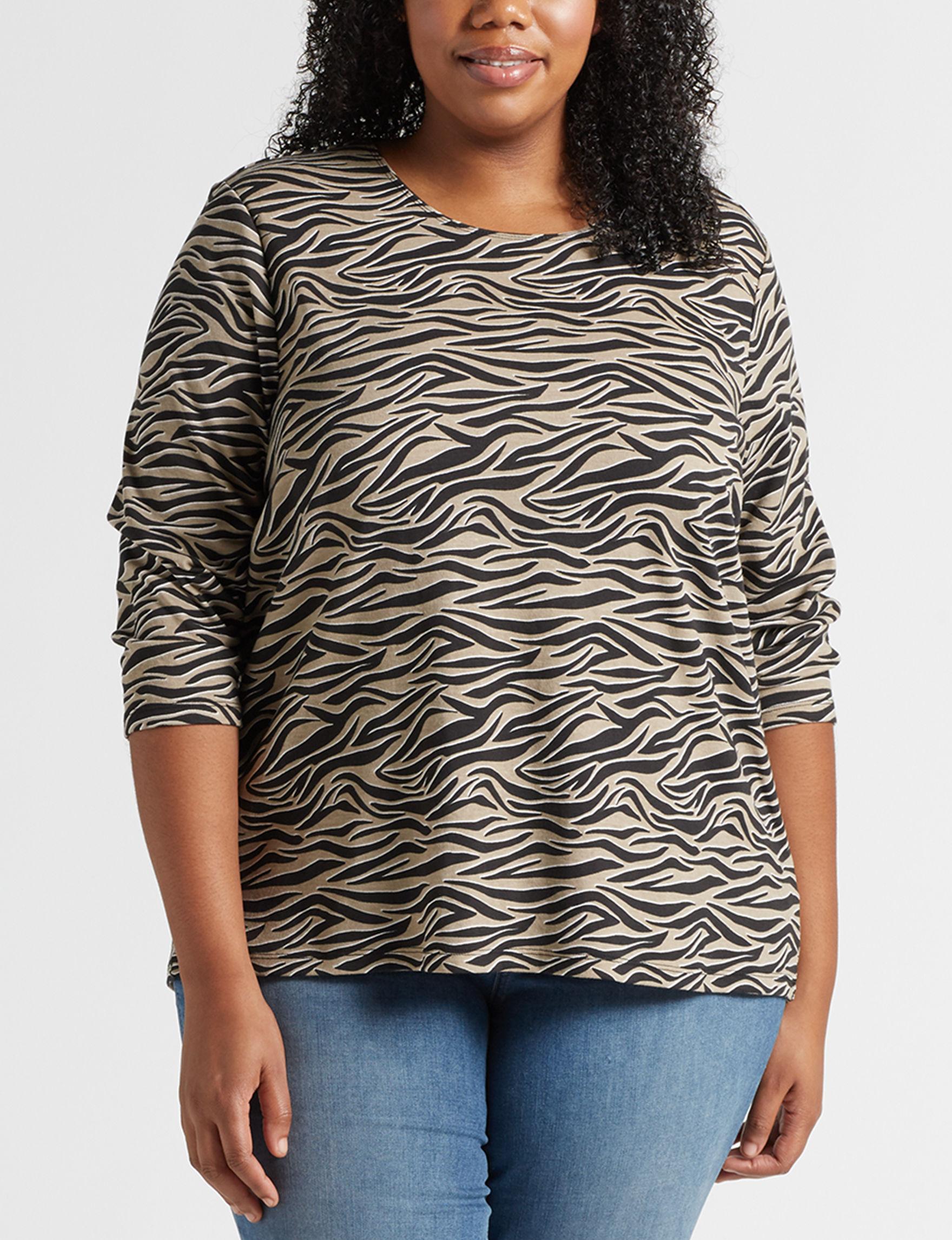 Rebecca Malone Brown / Black Shirts & Blouses