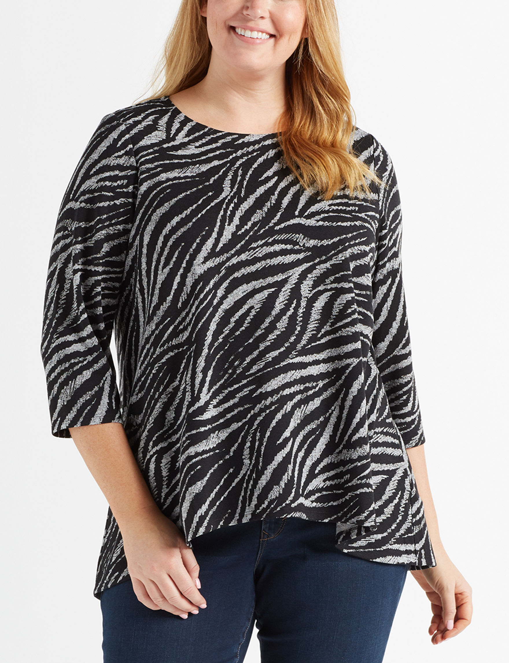 Zac & Rachel Zebra Shirts & Blouses