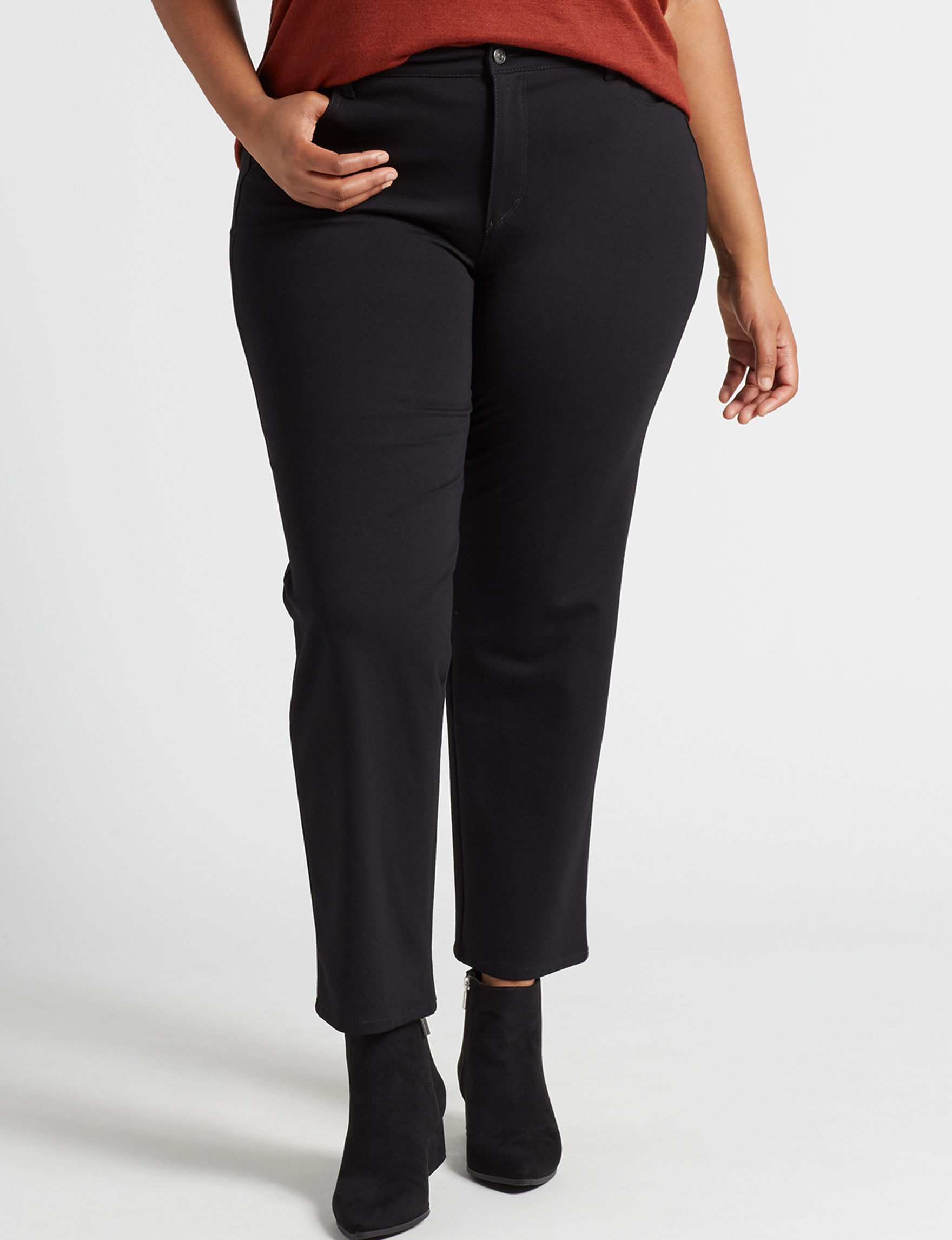 Gloria Vanderbilt Black Soft Pants