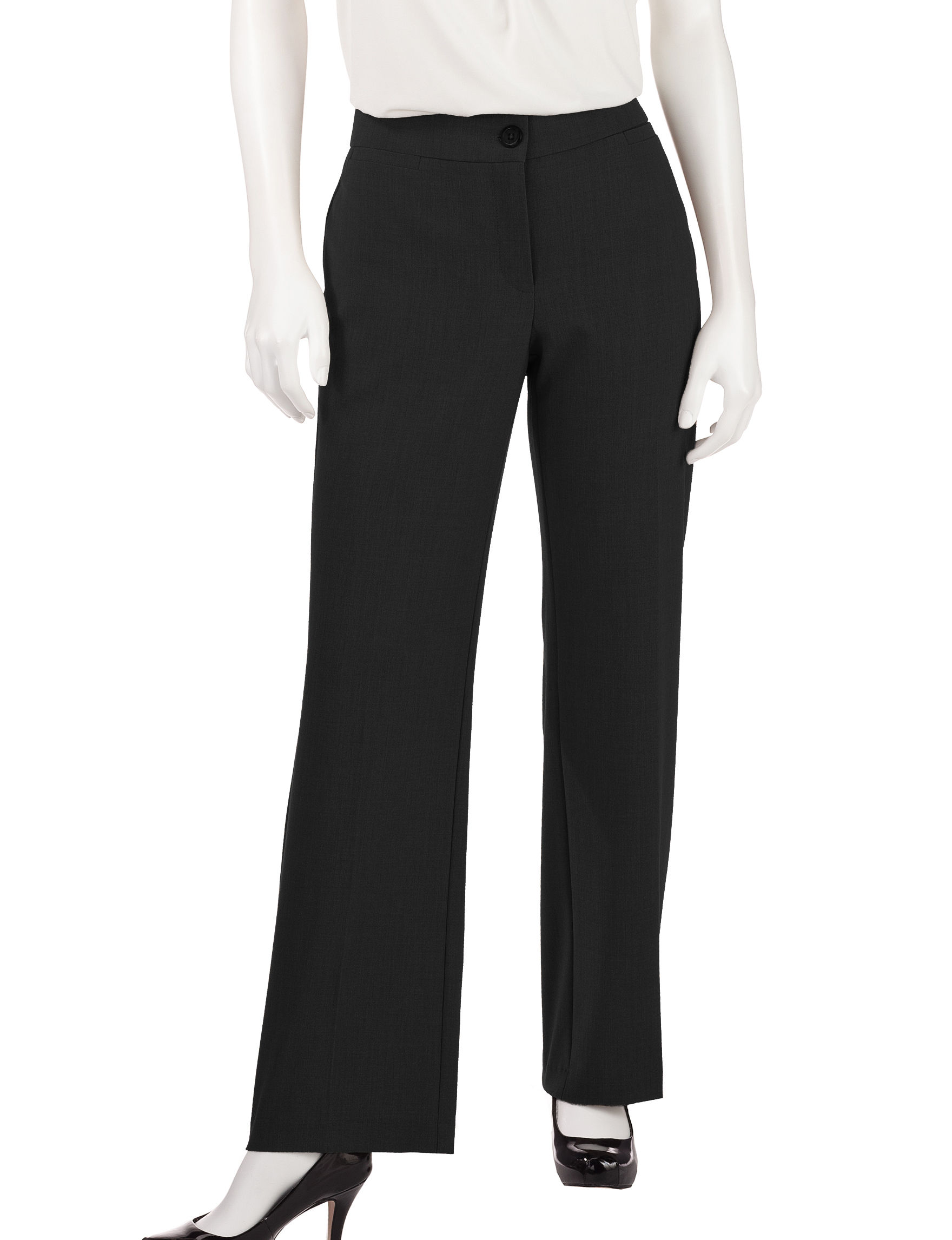 Briggs New York Petite Solid Color Bi-Stretch Pants - Black - 6P - Briggs New York