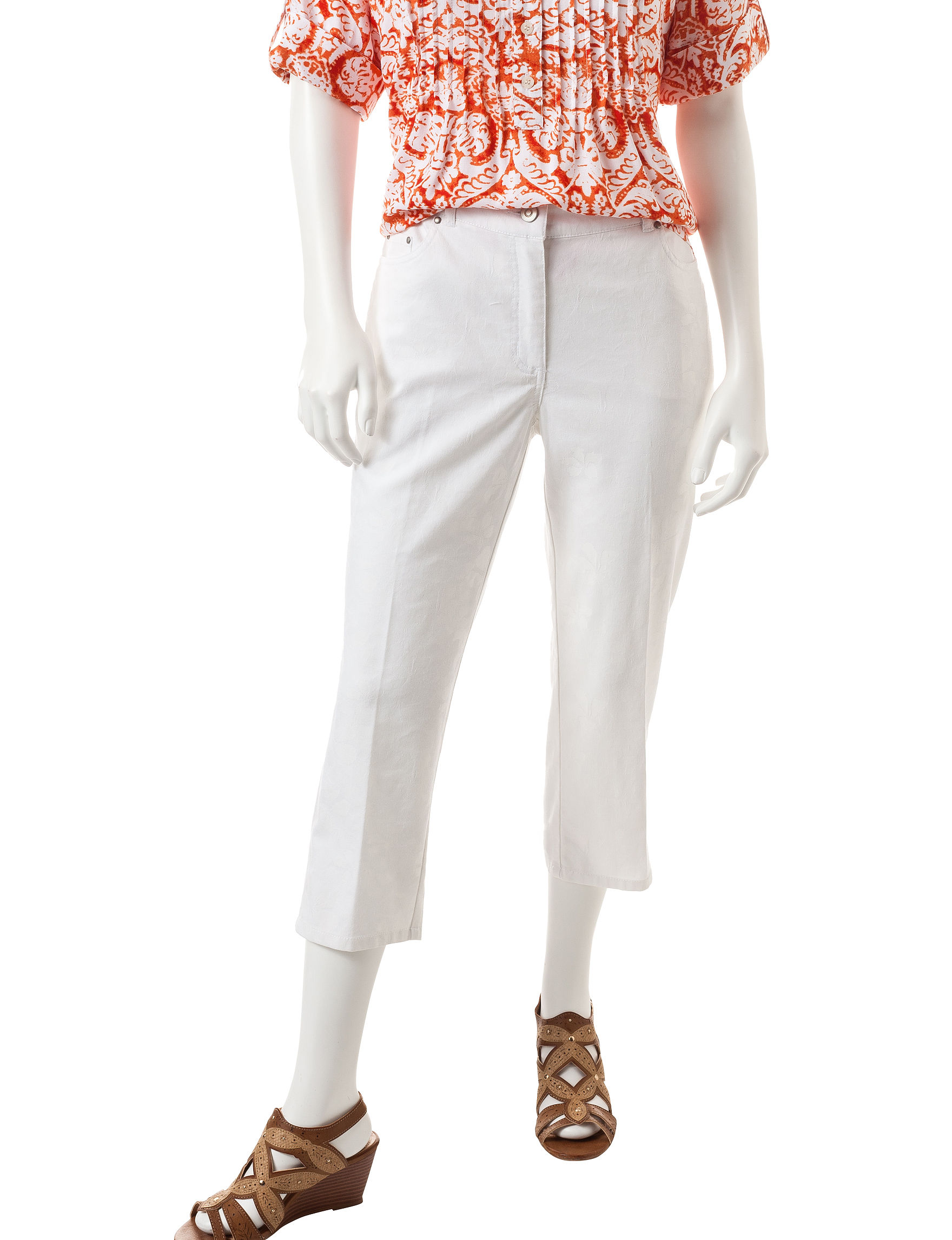 Ruby Road White Capris & Crops