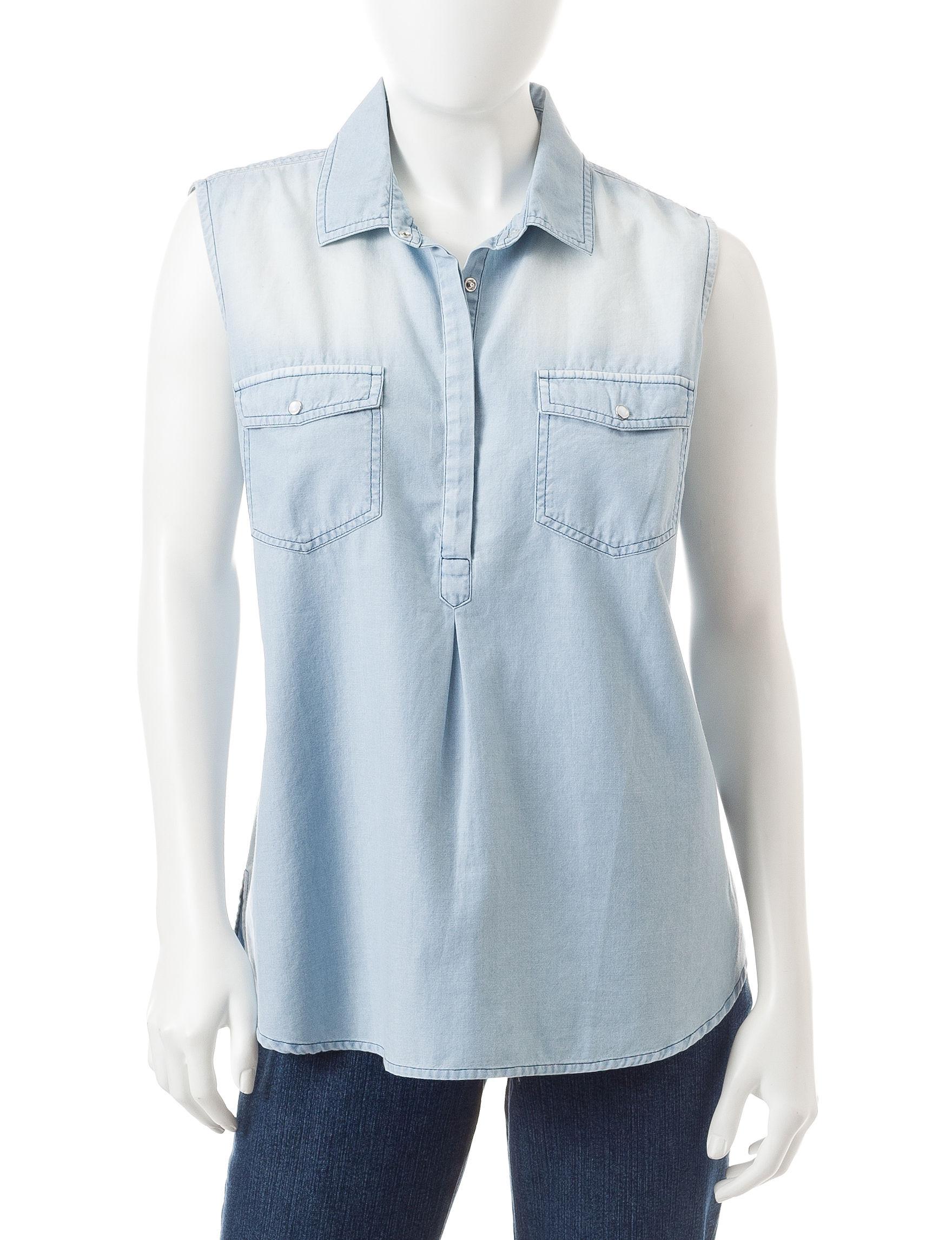 Earl Jean Chambray Shirts & Blouses