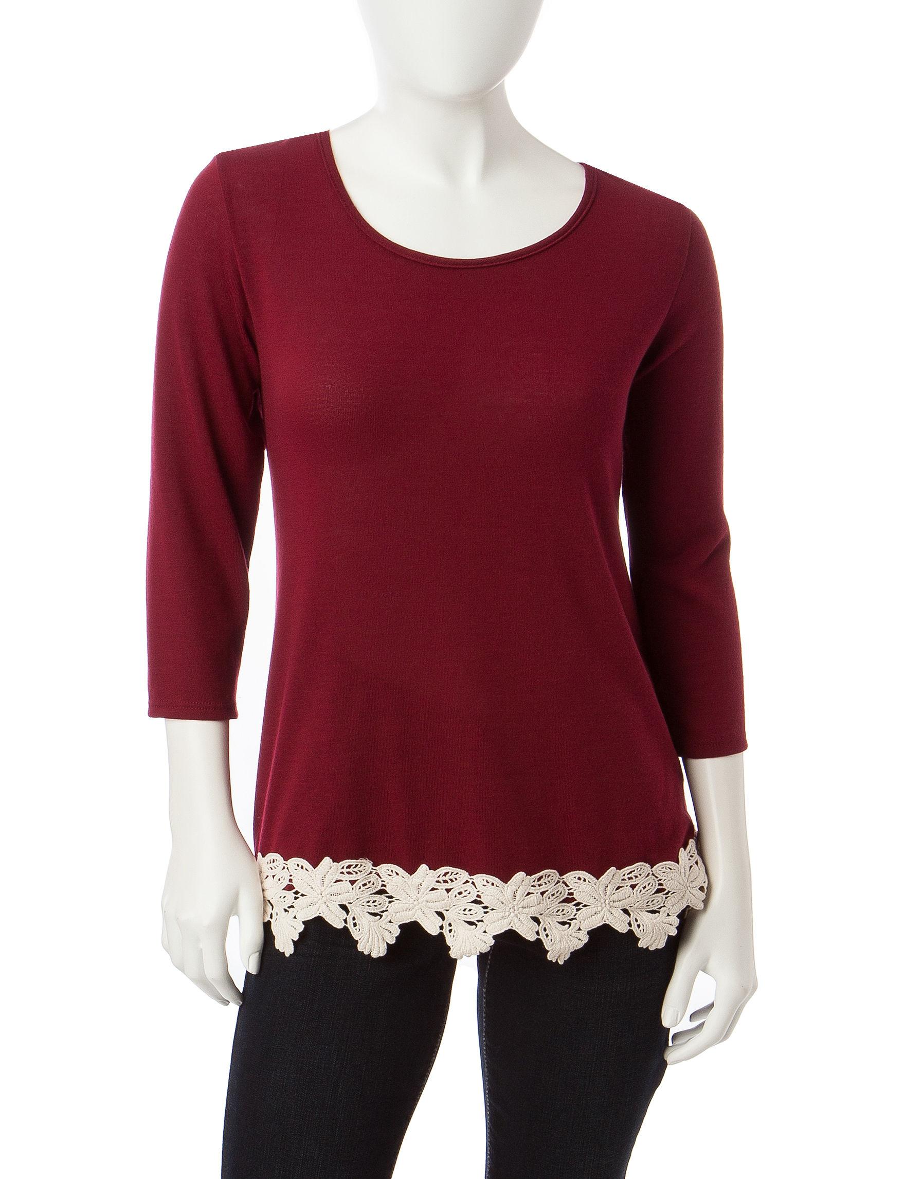 Hannah Dark Red Shirts & Blouses