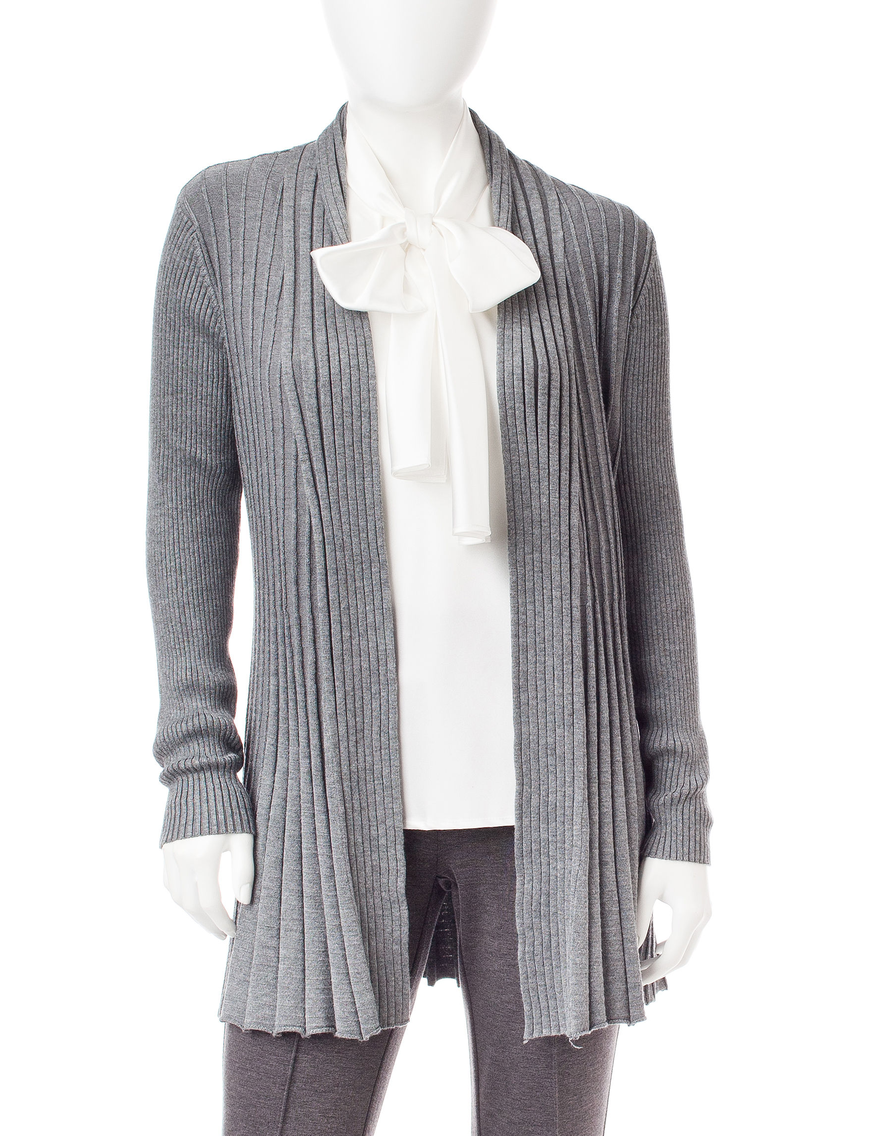 NY Collection Grey Cardigans
