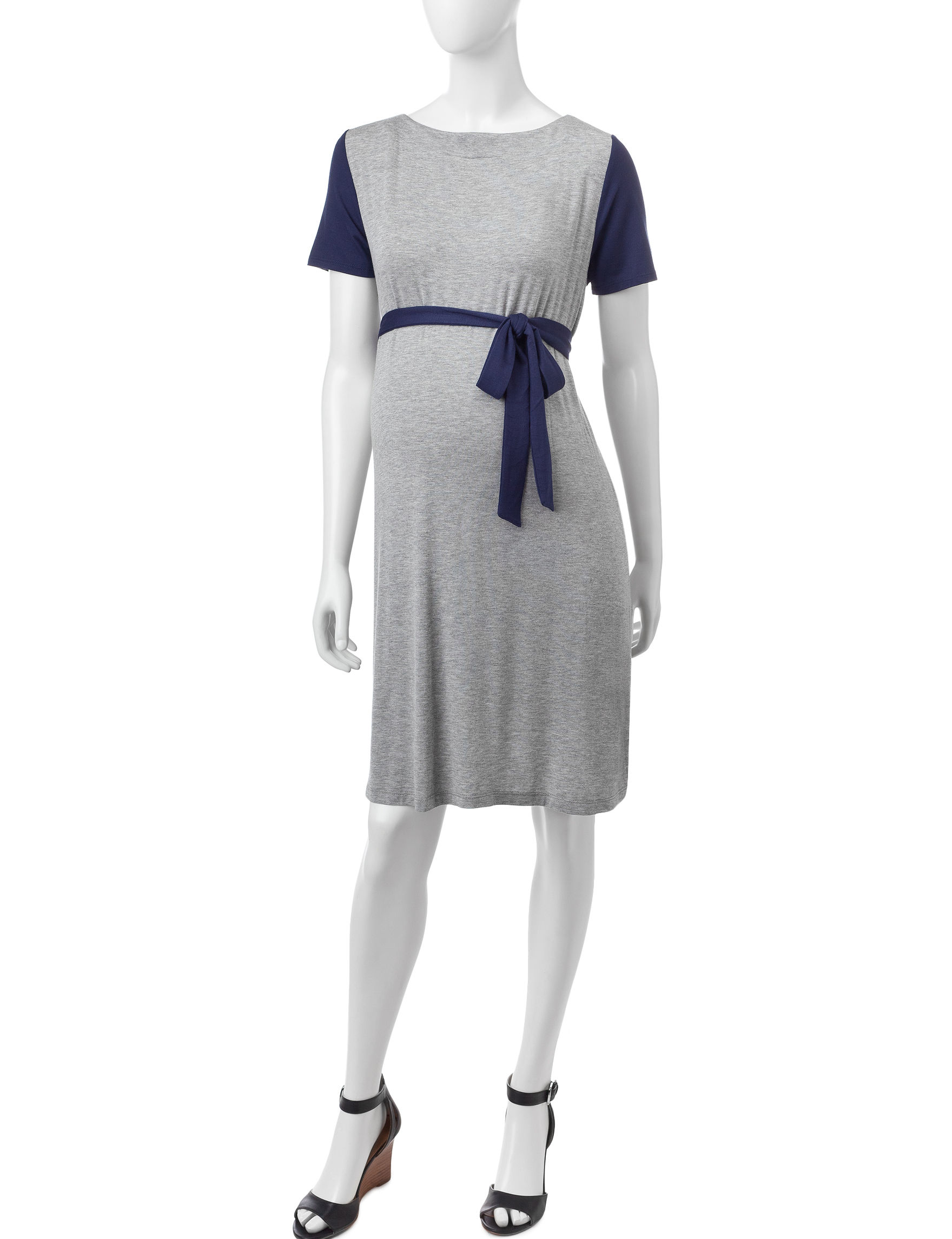 Three Season Maternity Grey Everyday & Casual Fit & Flare Dresses