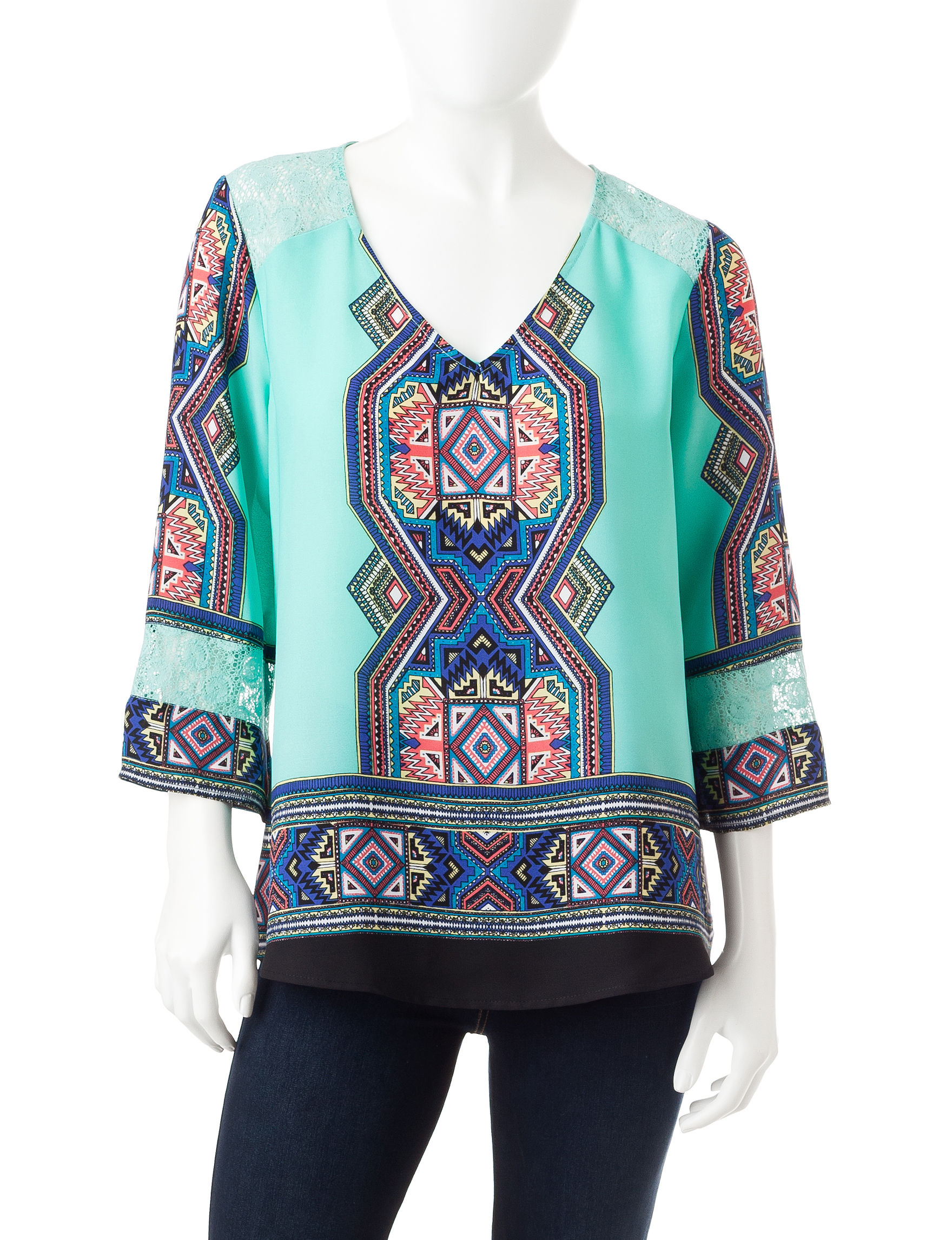 Figuero & Flower Blue Shirts & Blouses