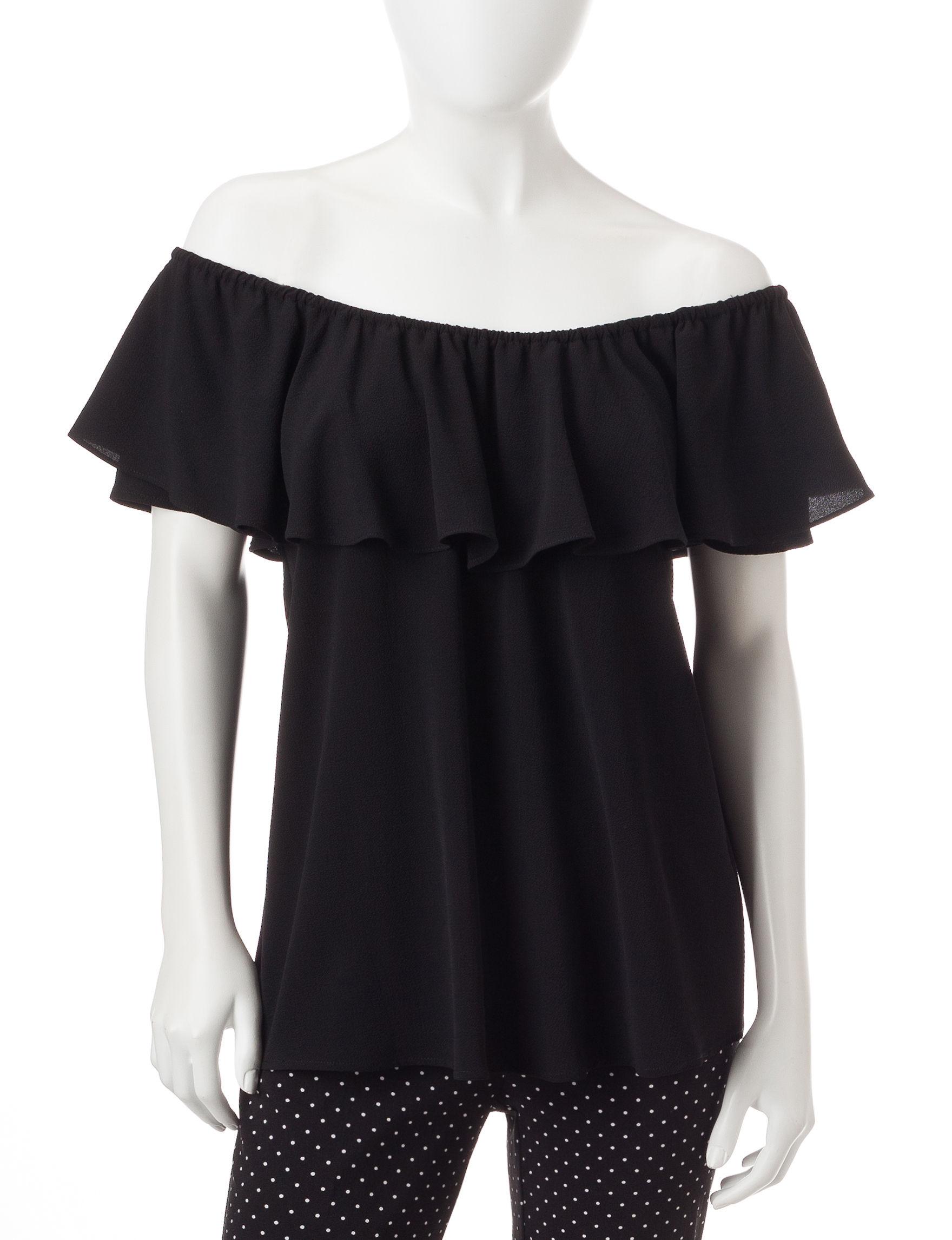Spense Black Shirts & Blouses