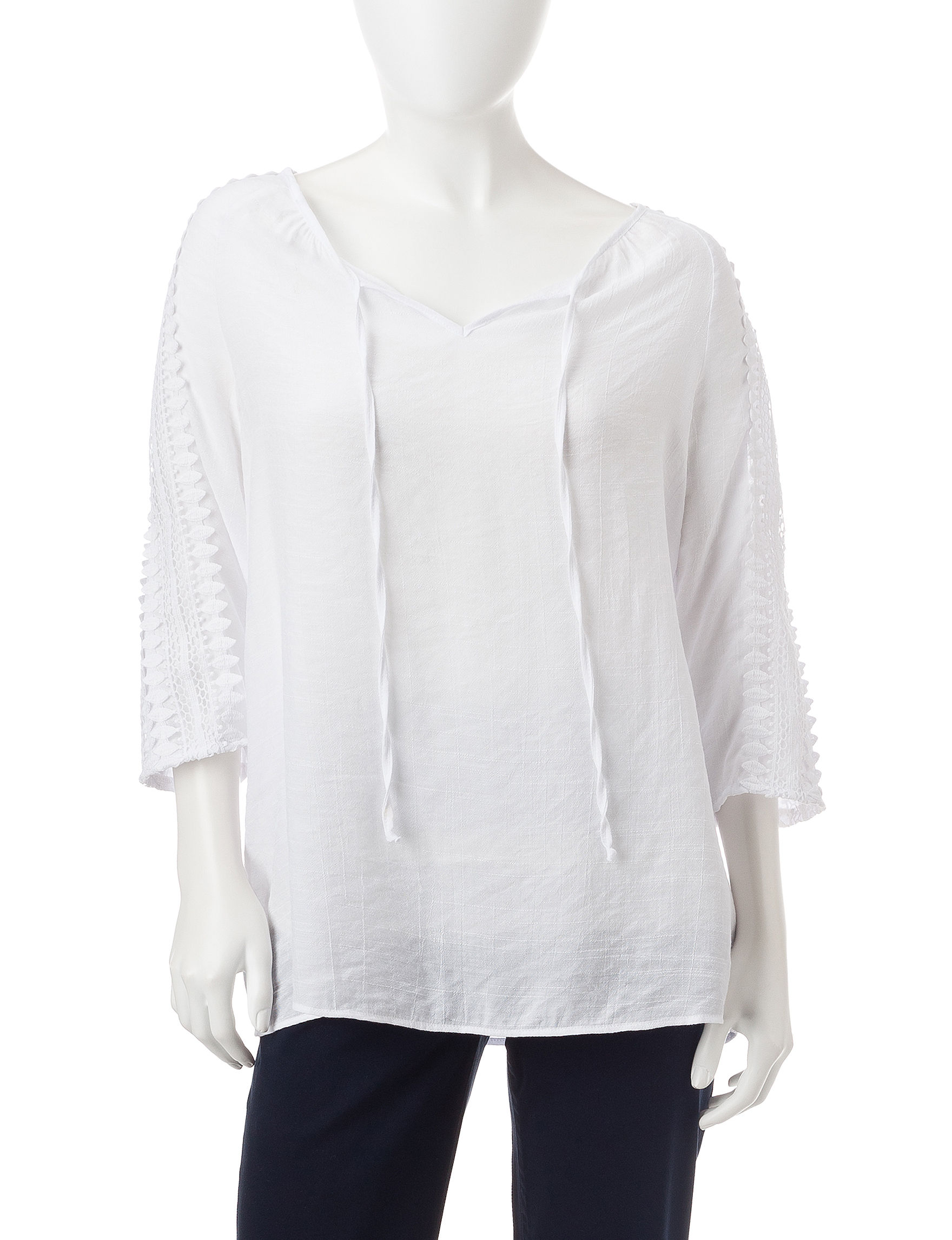 NY Collection Light Pink Shirts & Blouses