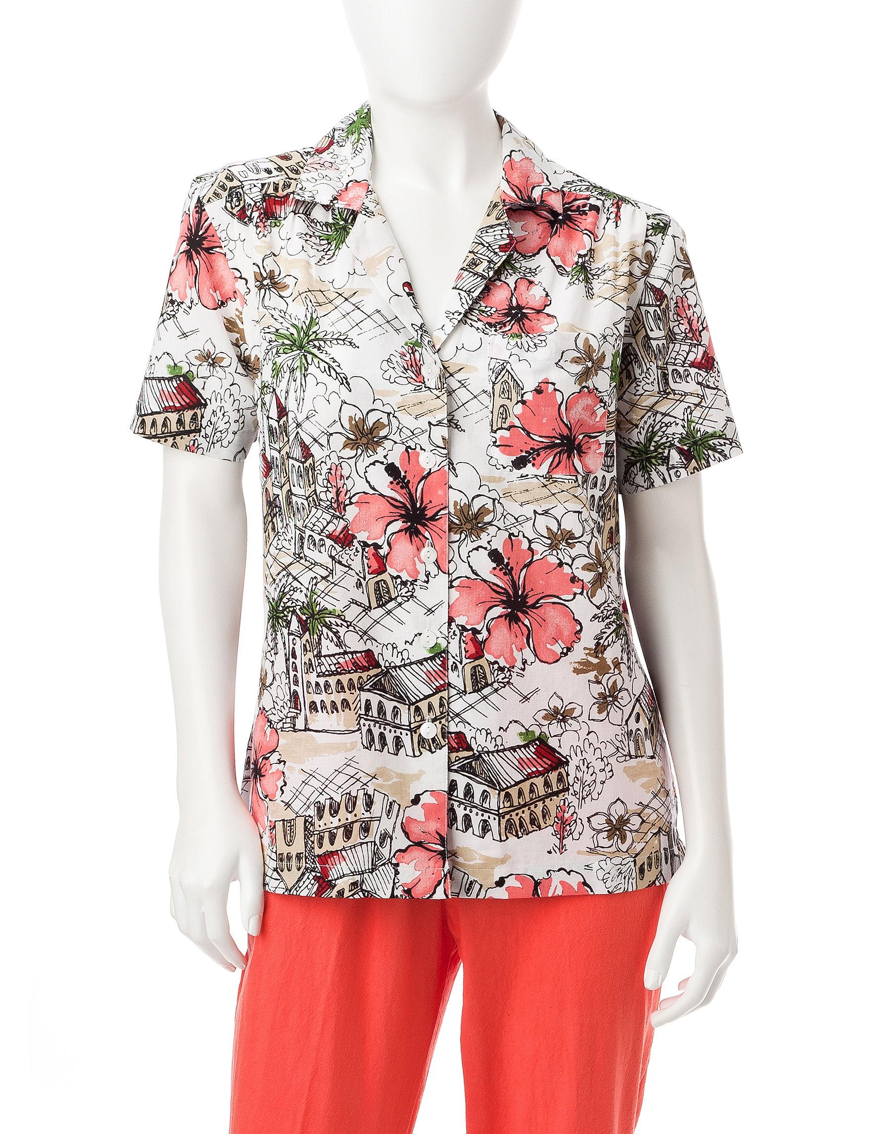 Cathy Daniels Pink Multi Shirts & Blouses