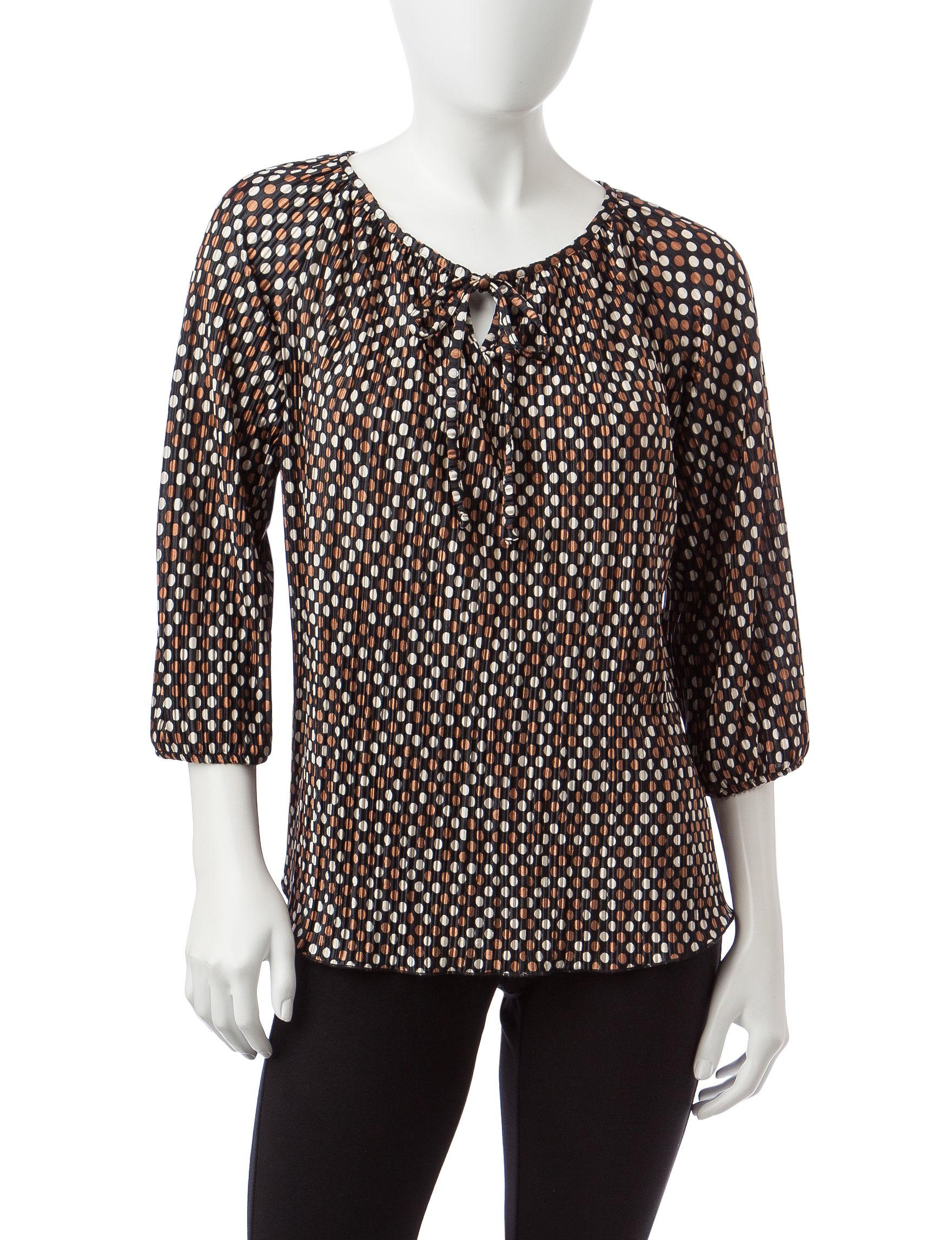 Rebecca Malone Black / Multi Shirts & Blouses