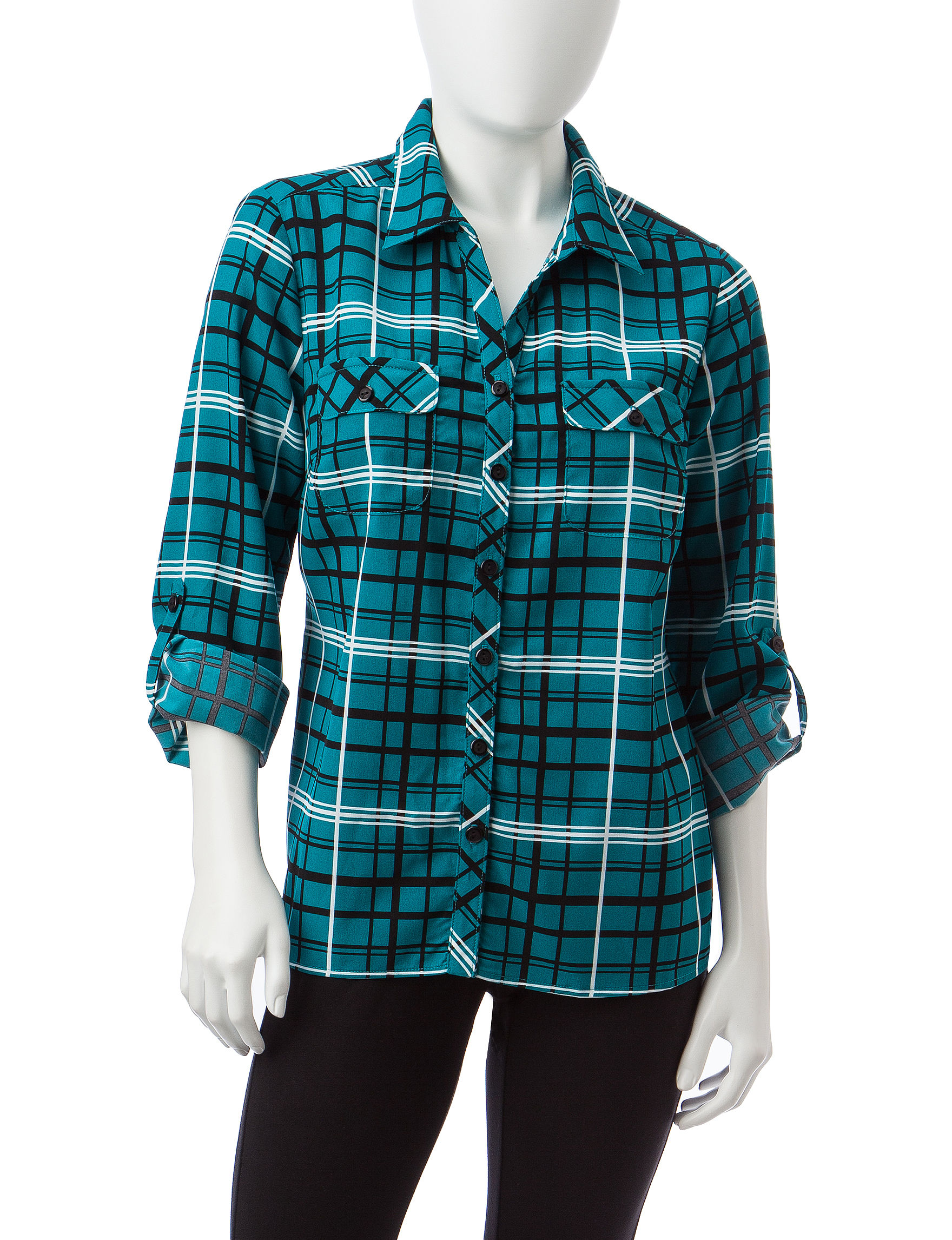 Notations Teal Shirts & Blouses