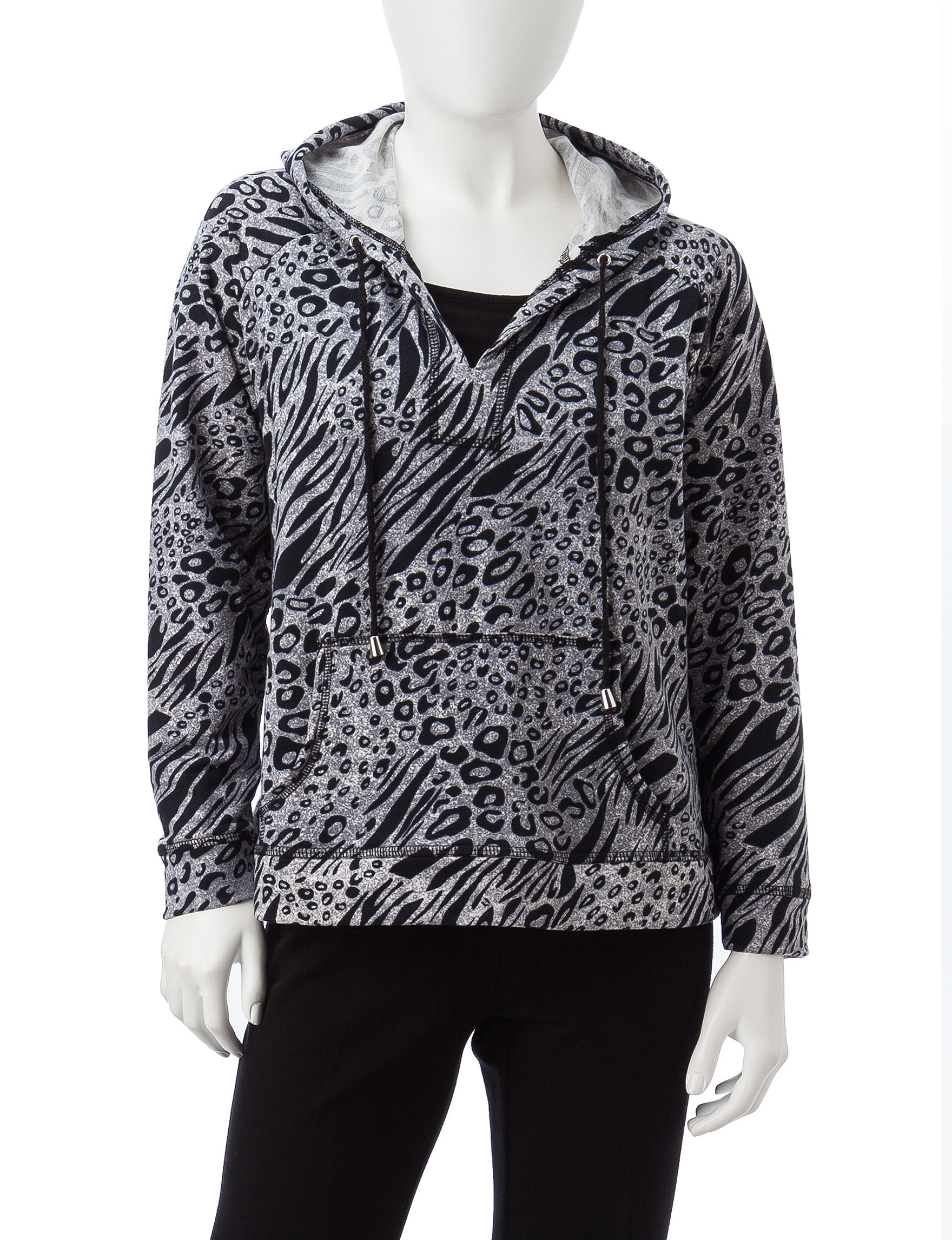 Cathy Daniels Grey Multi Pull-overs Shirts & Blouses