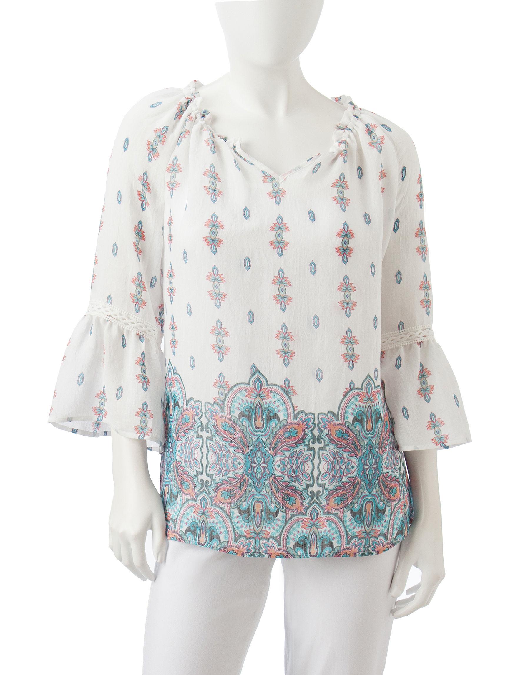 Zac & Rachel White / Multi Shirts & Blouses