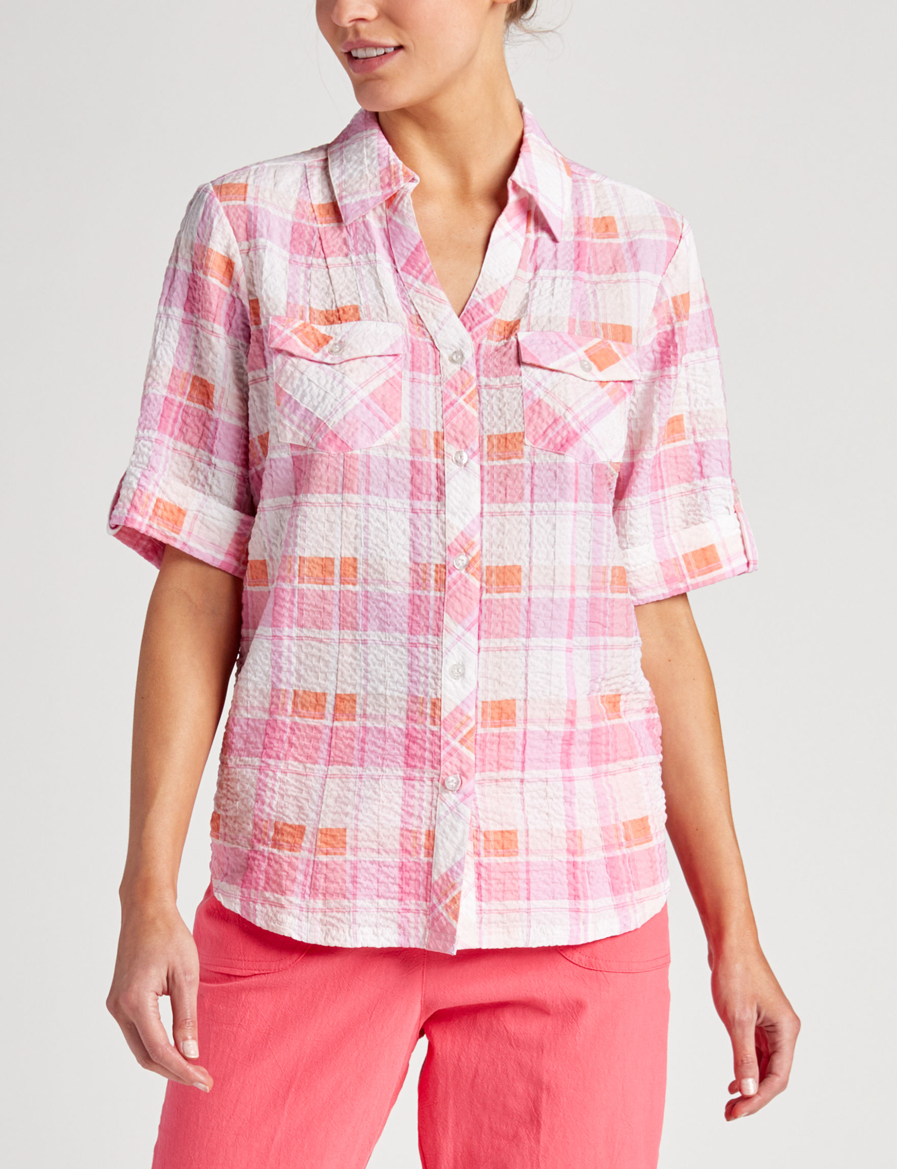 Cathy Daniels Coral Shirts & Blouses
